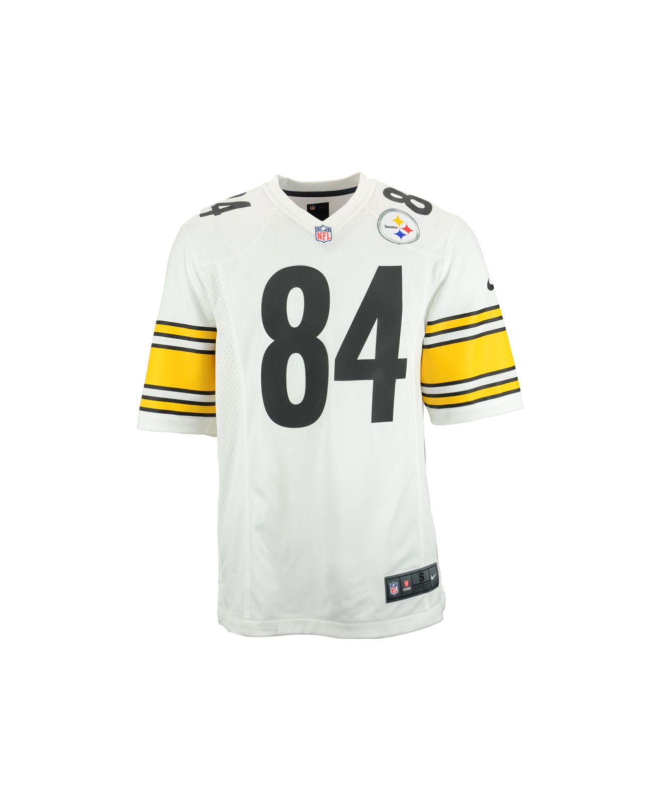 Lyst - Nike Men s Antonio Brown Pittsburgh Steelers Game Jersey in White  for Men 41b2384d0