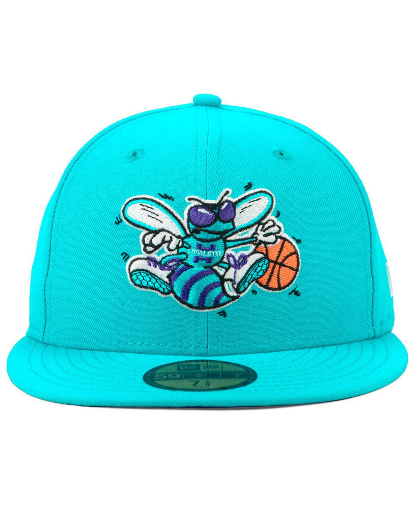 Lyst - KTZ Charlotte Hornets Hardwood Classic Nights 59fifty Fitted Cap in  Blue for Men 4ef35f460