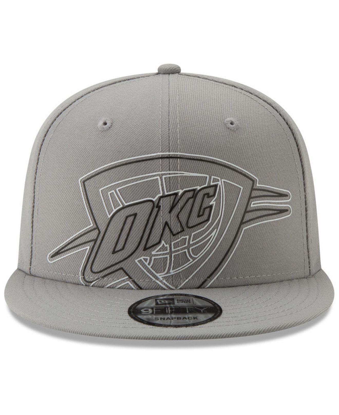 best sneakers f28e7 48f2d Lyst - KTZ Oklahoma City Thunder Light It Up Gray 9fifty Snapback Cap in  Gray for Men