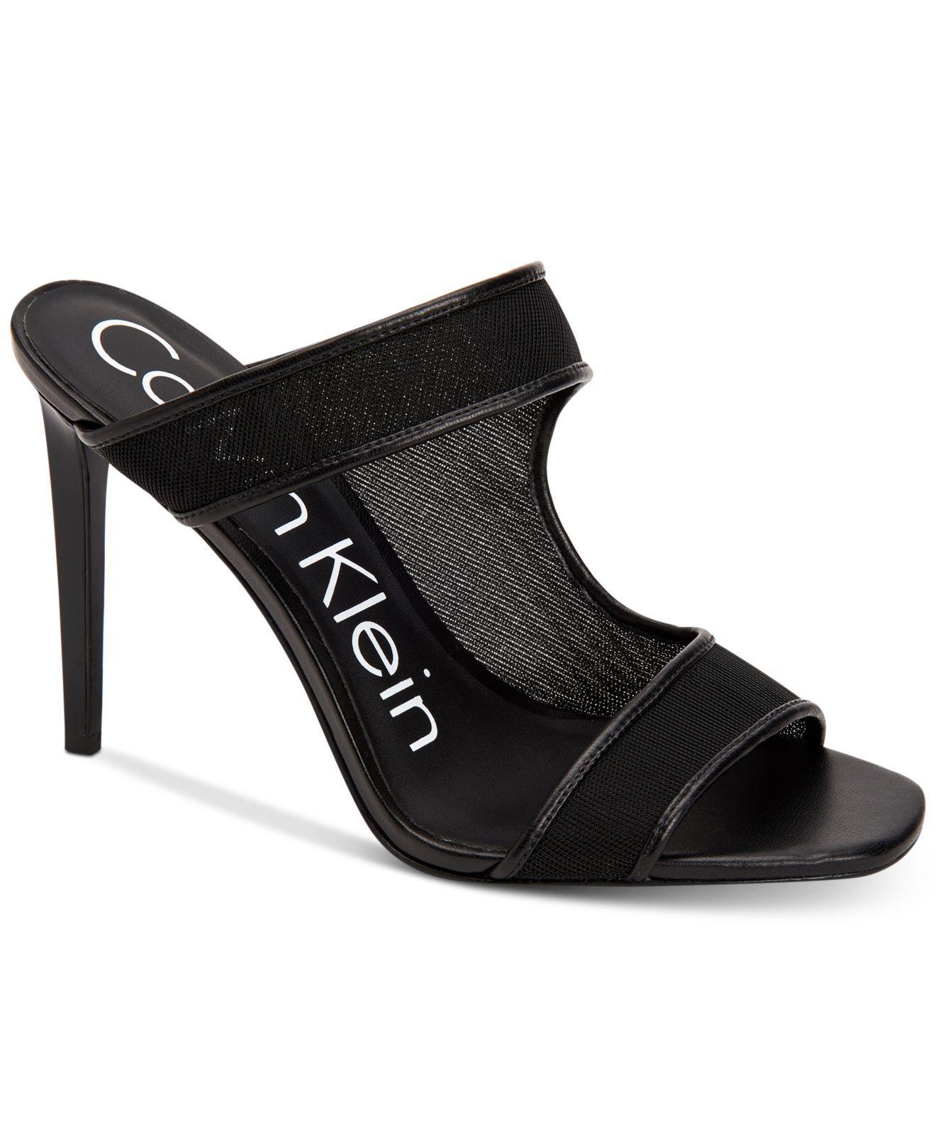 Calvin Klein NEHLAH - Heeled mules - black ZyZlObGQ