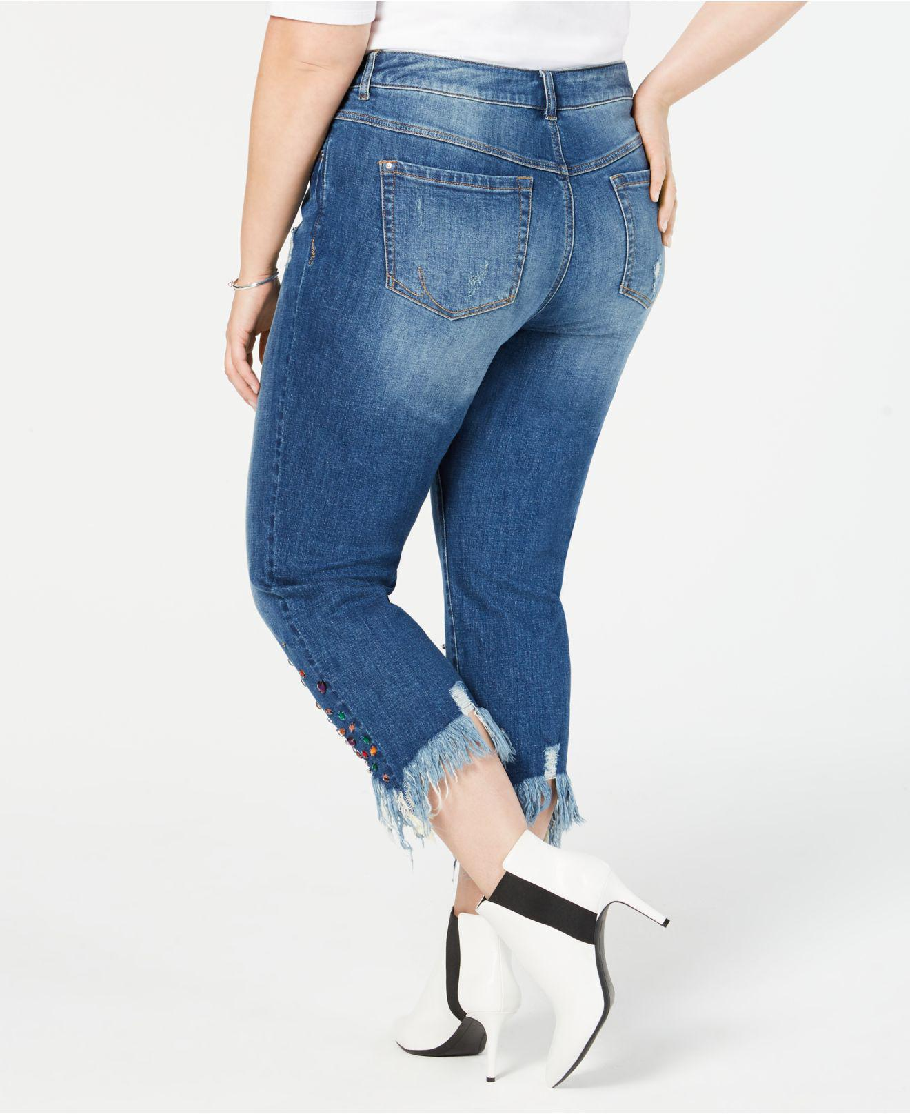 dbc6cd326bc28 Lyst - Inc International Concepts I.n.c. Plus Size Studded Ankle-length  Jeans