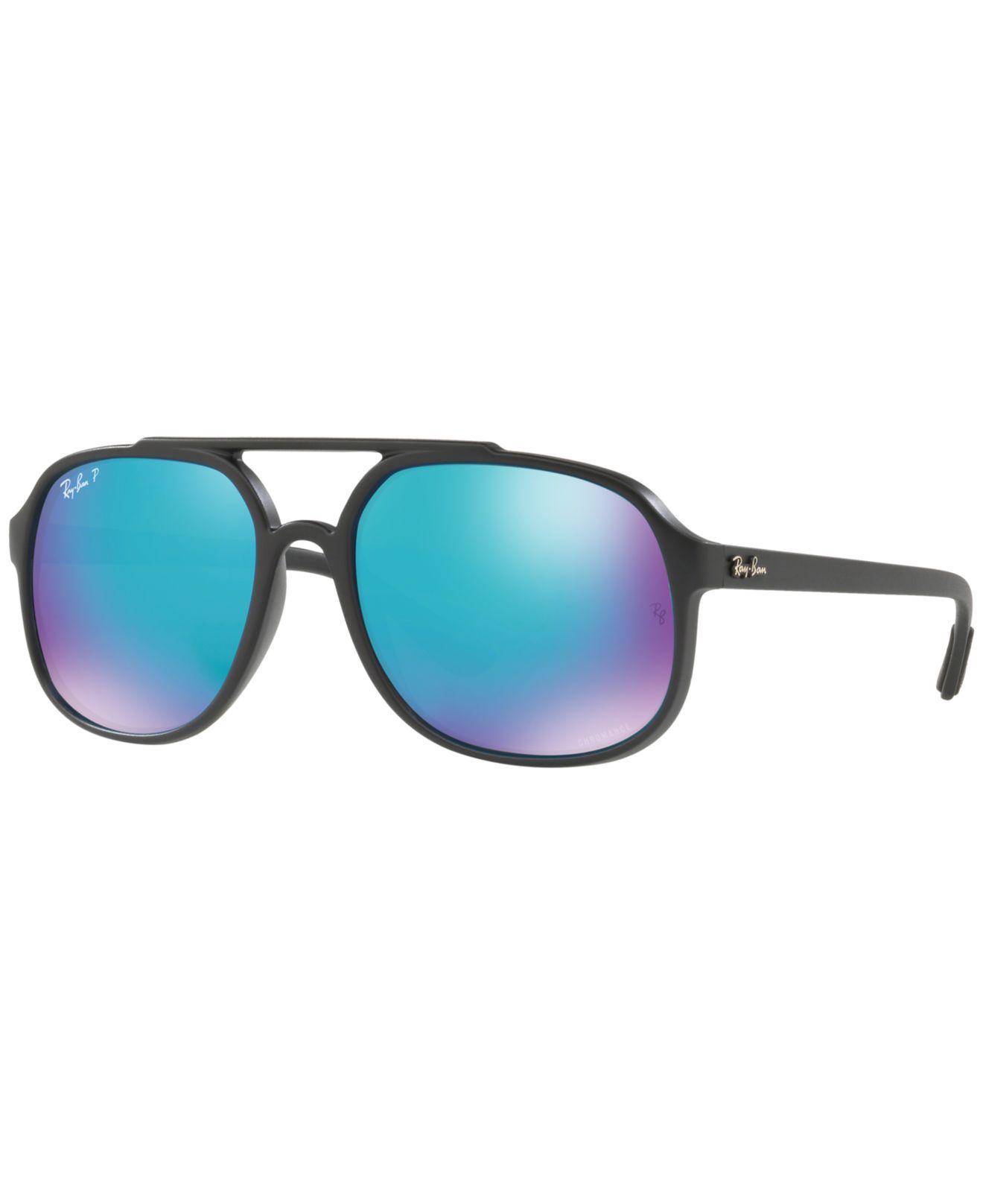 5cc8c3a6977 Ray-Ban. Women s Blue Polarized Sunglasses