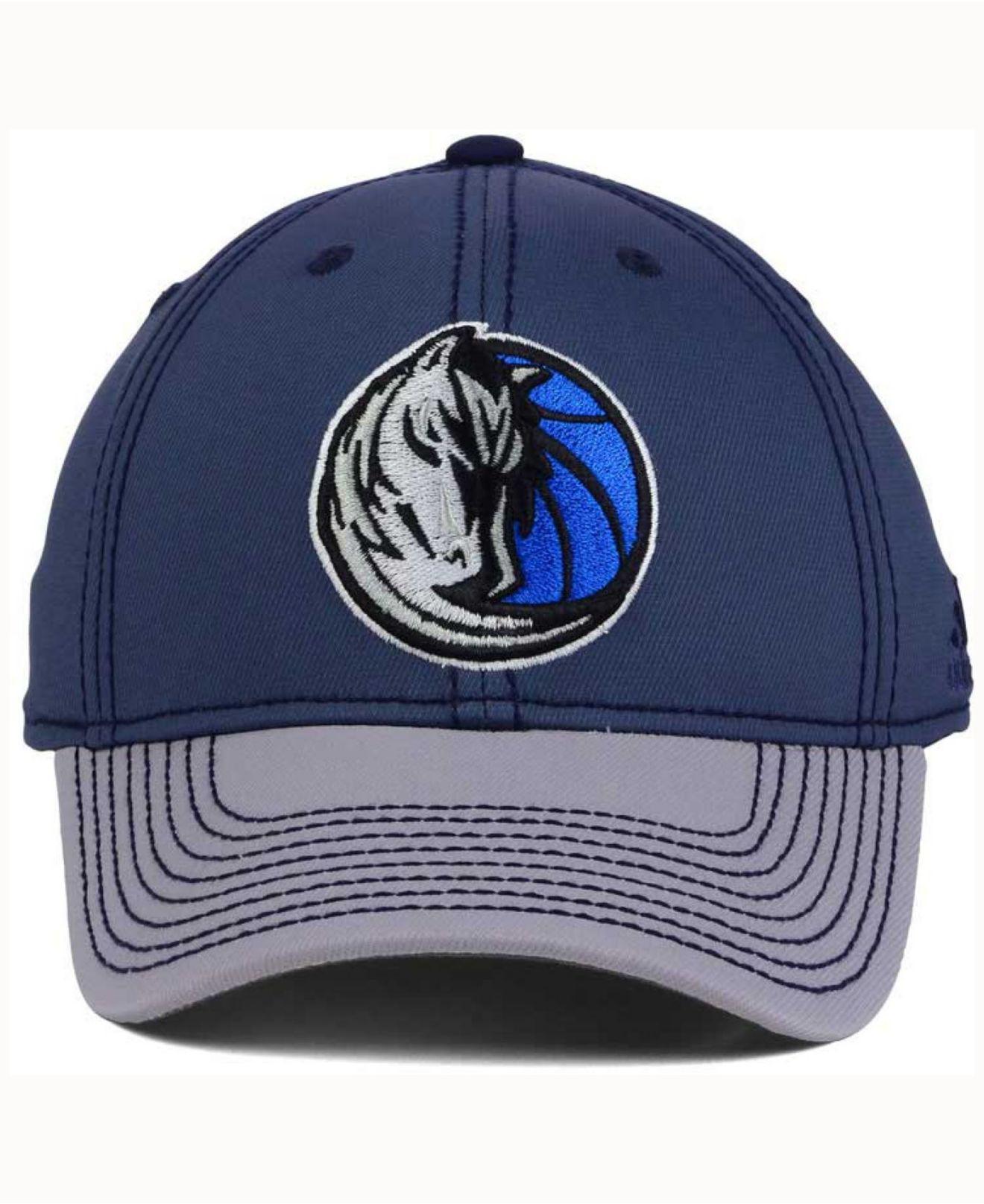 beda03b47c51d ... new style lyst adidas dallas mavericks volcano ash flex cap in blue for  men 3b7fe f2ea8