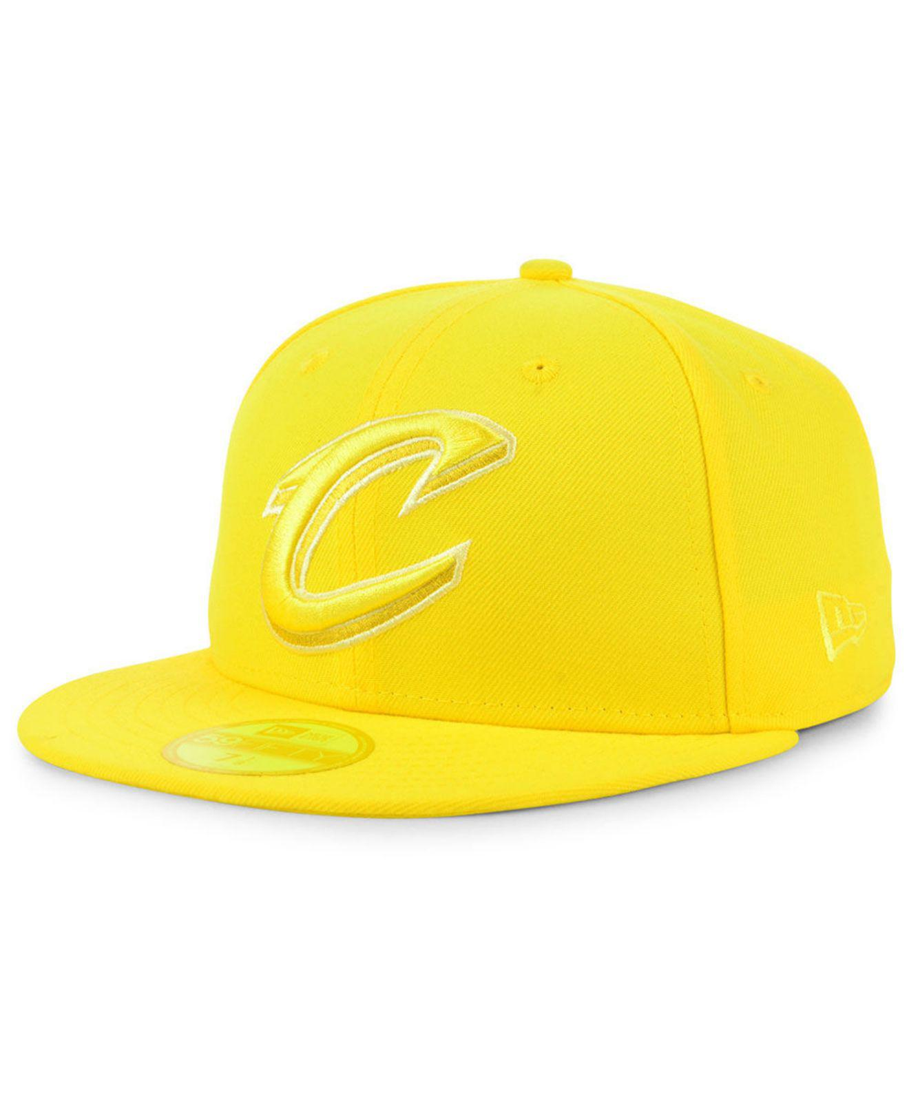 separation shoes 3a7f0 fa59a KTZ. Men s Yellow Cleveland Cavaliers Color Prism Pack 59fifty Fitted Cap