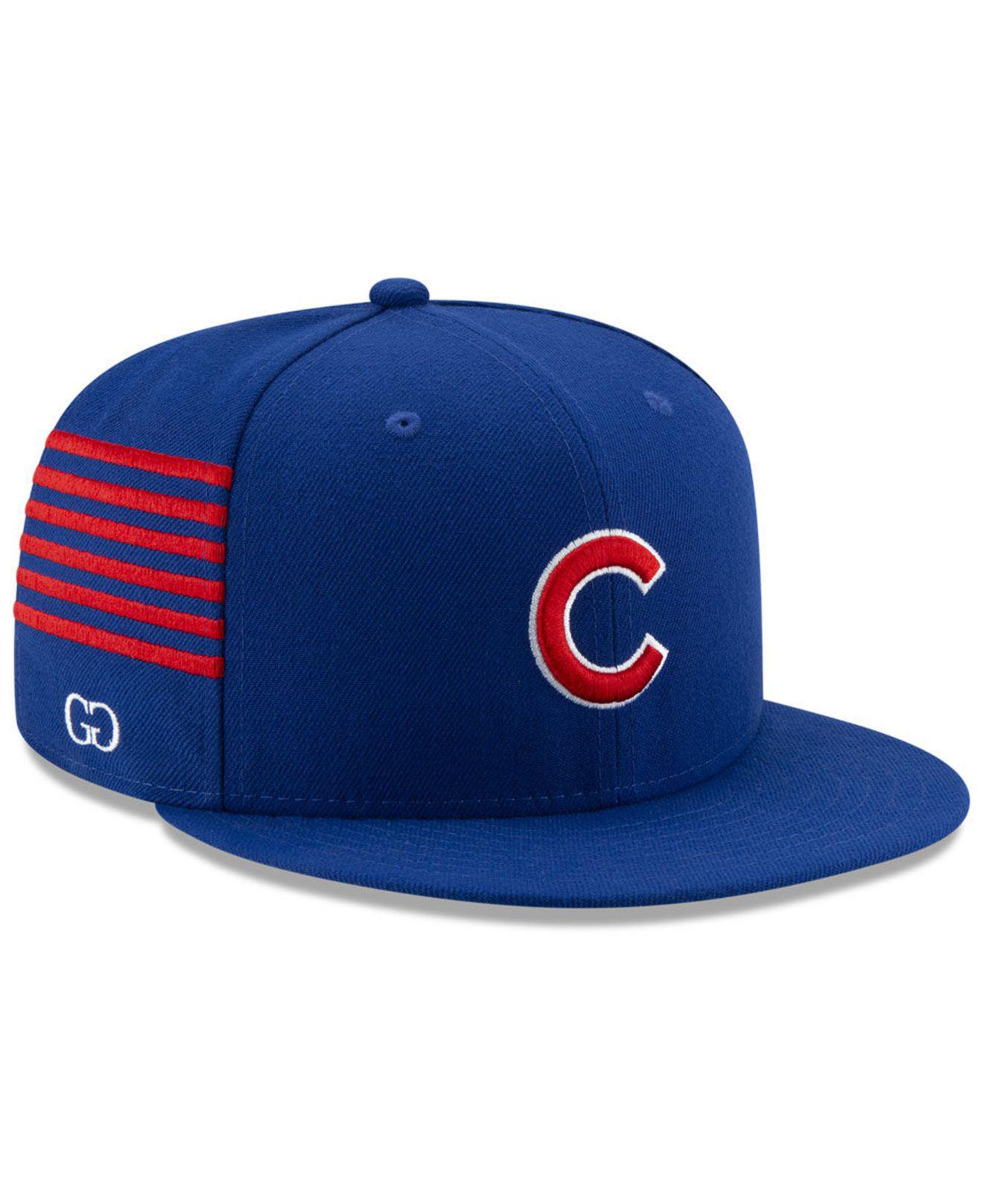 big sale 6c3b5 80d13 KTZ. Men s Blue Chicago Cubs Grungy Gentleman 59fifty Fitted Cap
