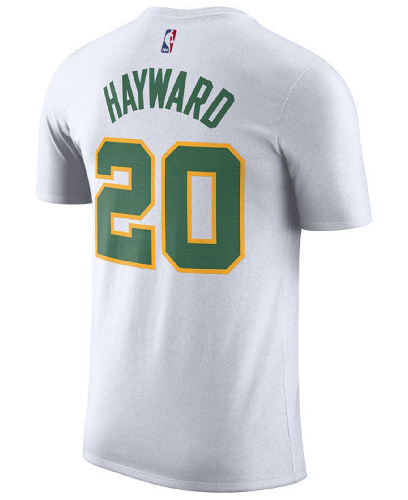 18bfbf175 Lyst - Nike Gordon Hayward Boston Celtics City Player T-shirt 2018 in White  for Men
