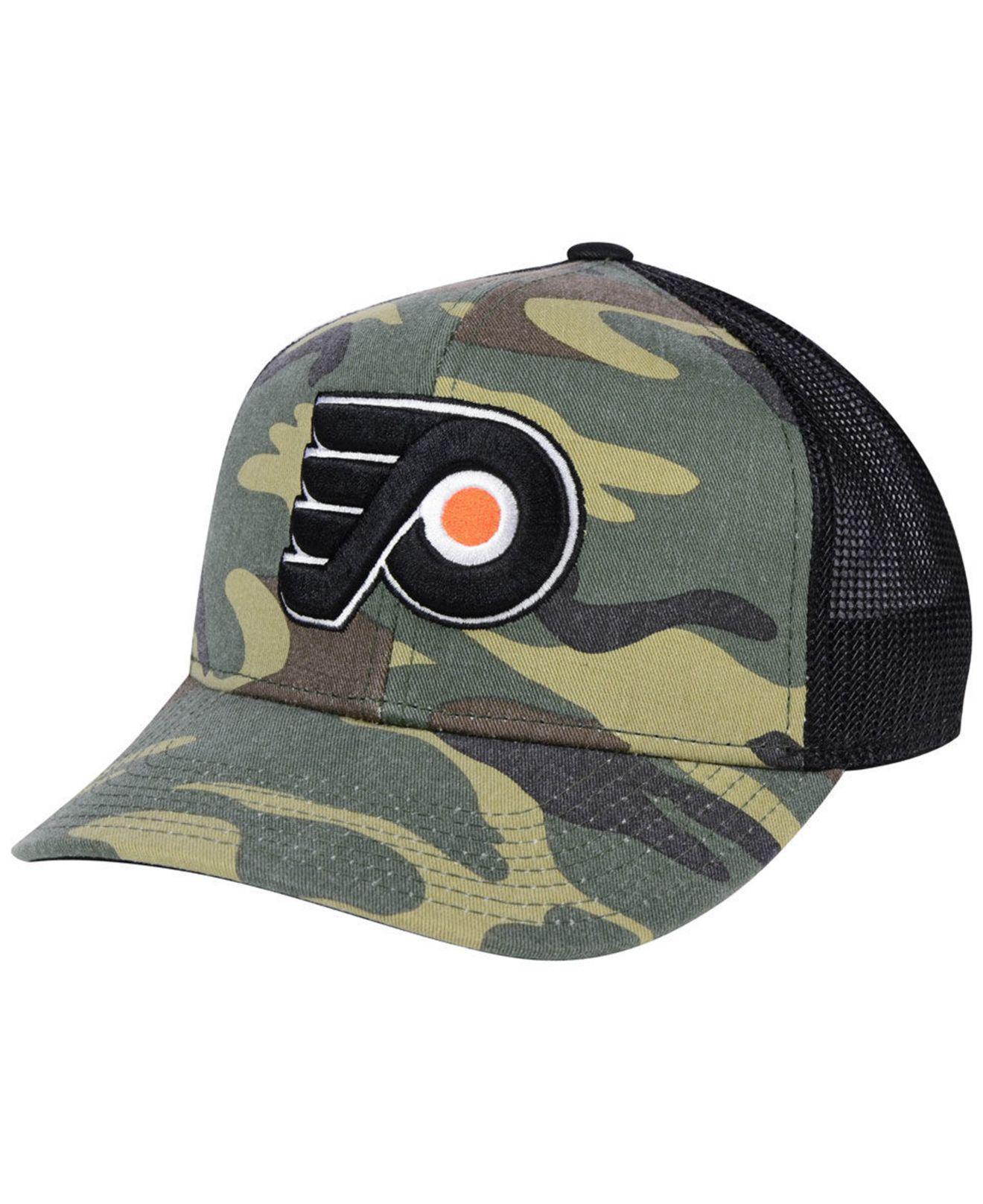 7d6301ca2a5 Adidas - Multicolor Philadelphia Flyers Camo Trucker Cap for Men - Lyst.  View fullscreen