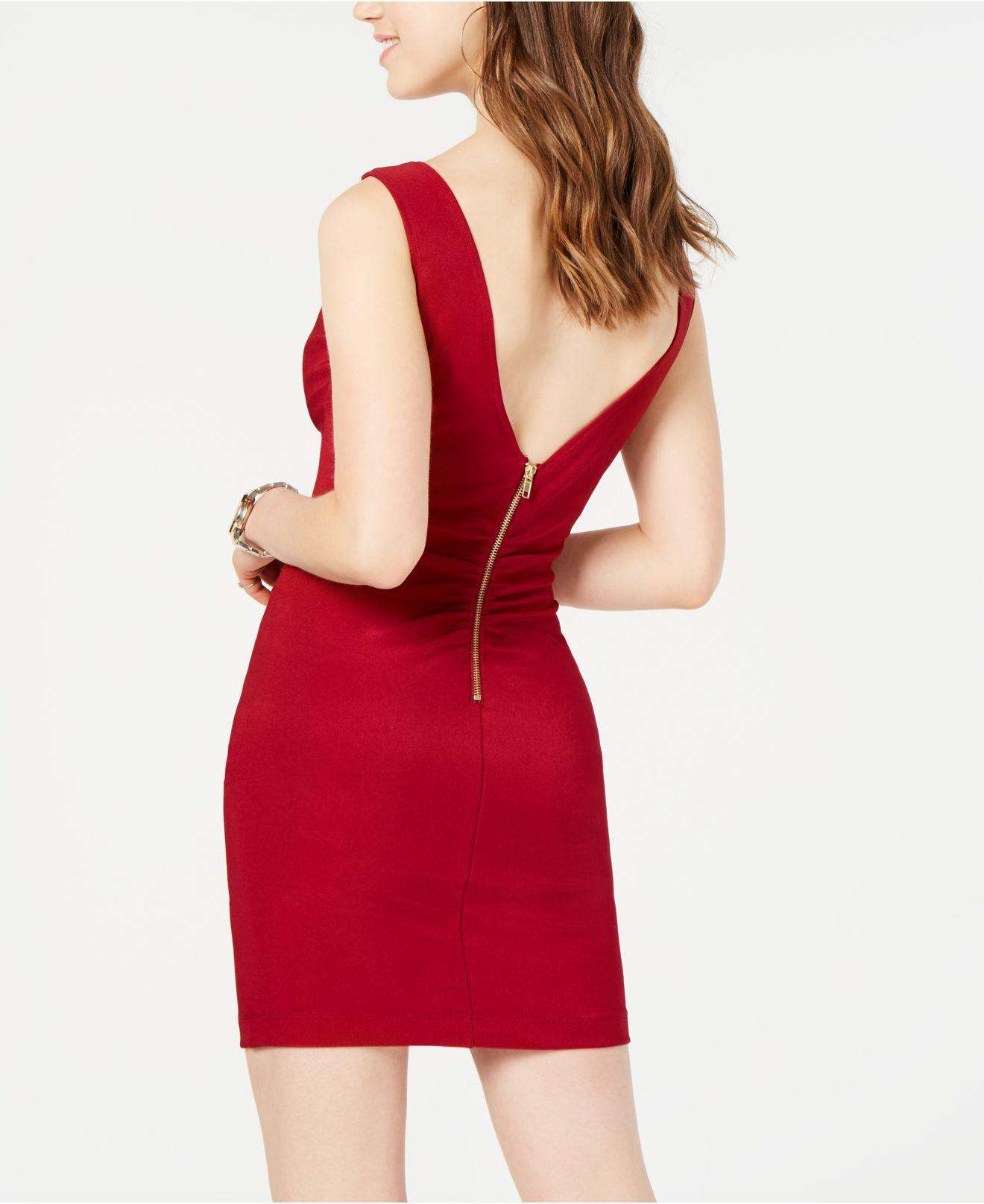 89d08540ed7 Emerald Sundae Juniors  Embellished Bodycon Dress in Red - Lyst