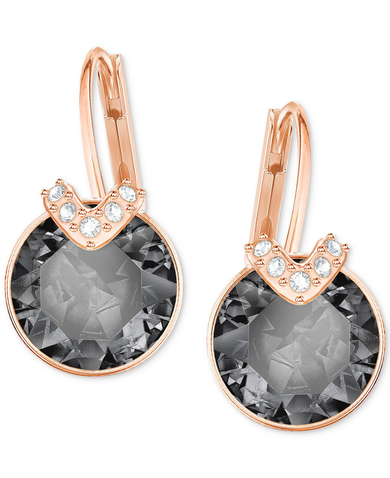 94d9eb59a Swarovski - Metallic Bella V Pierced Earrings - Lyst. View fullscreen