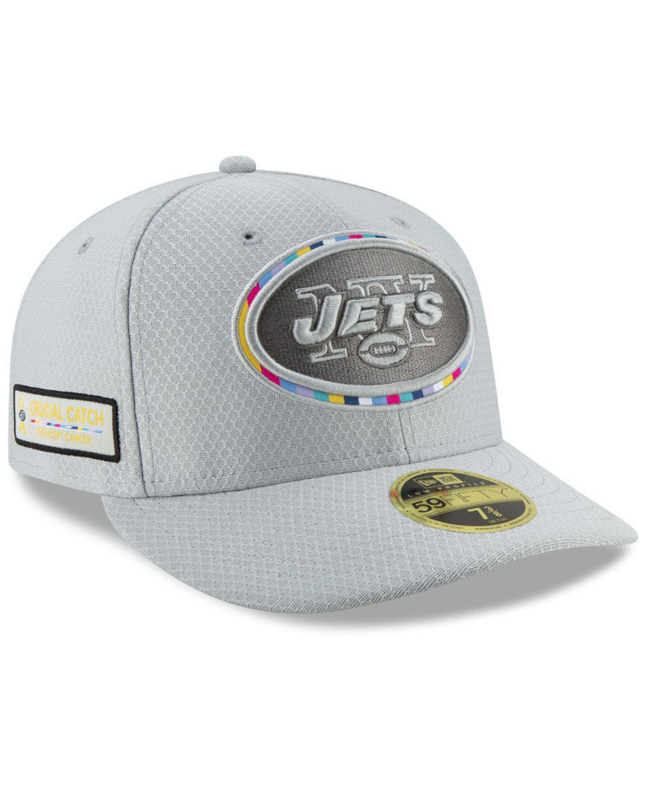 quality design effdc 1b64f KTZ. Men s Gray New York Jets Crucial Catch Low Profile 59fifty Fitted Cap
