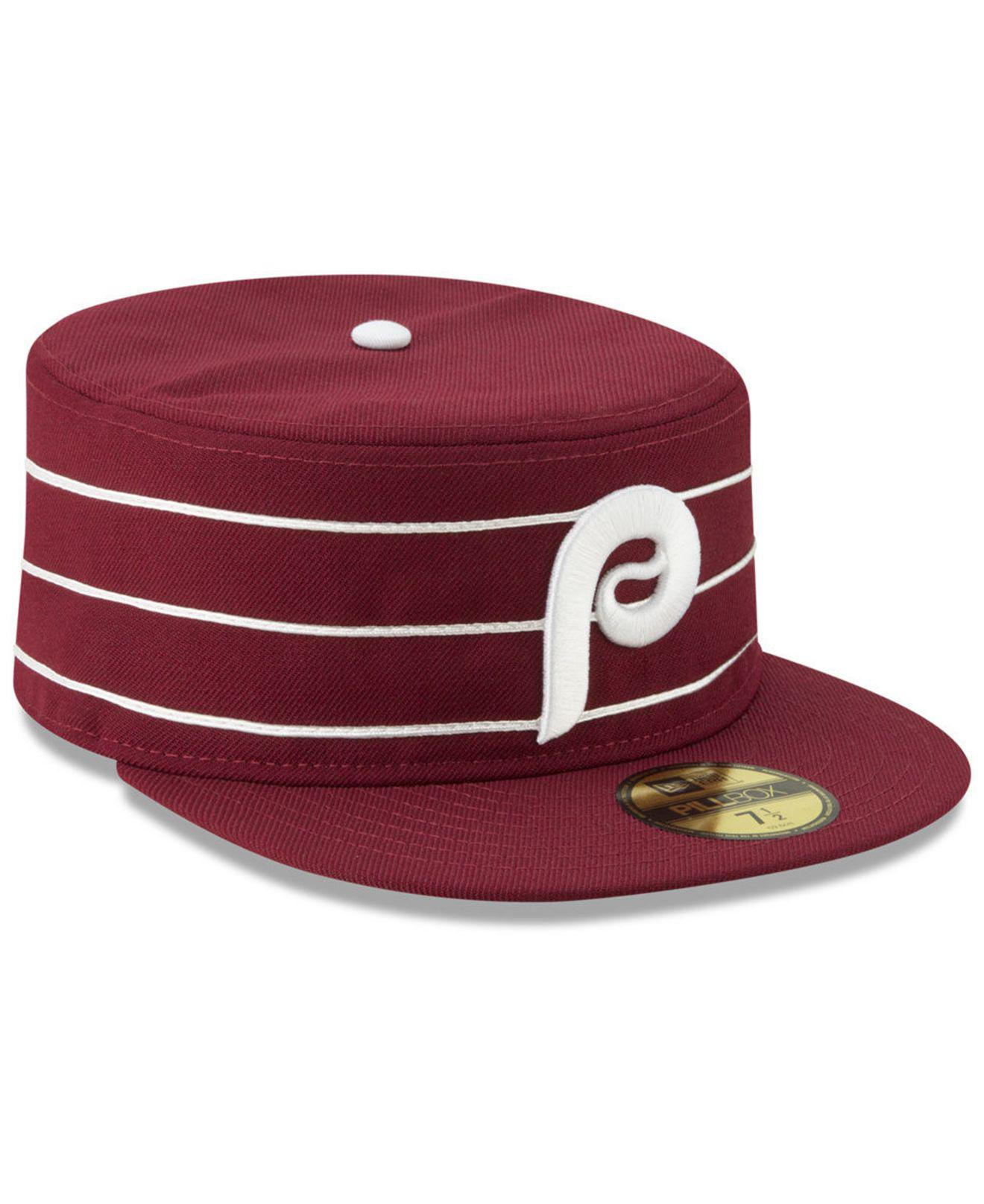 a9dc2e98464f83 ... ebay philadelphia phillies pillbox 59fifty fitted cap for men lyst.  view fullscreen 8311f fb6ae ...