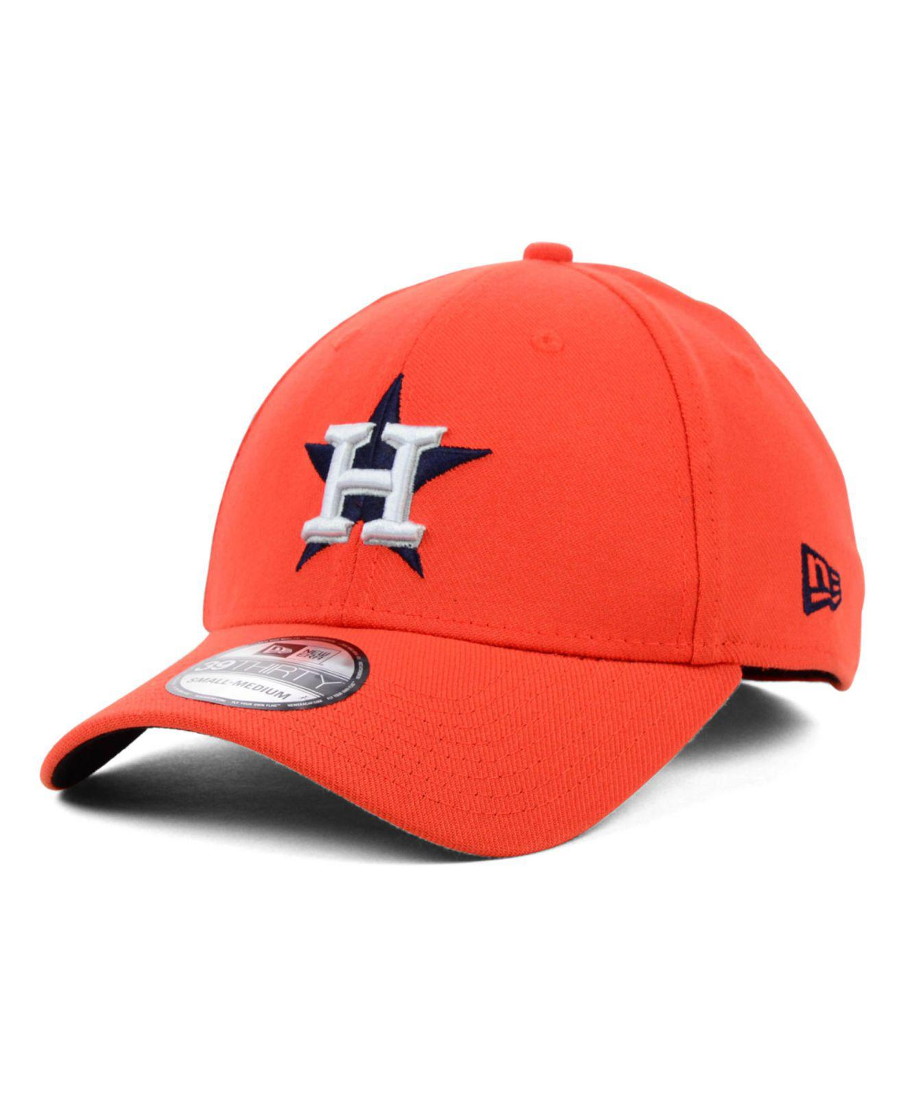 low priced 2c924 0b392 ... new style ktz. mens orange houston astros mlb team classic 39thirty cap  bb574 4e32e