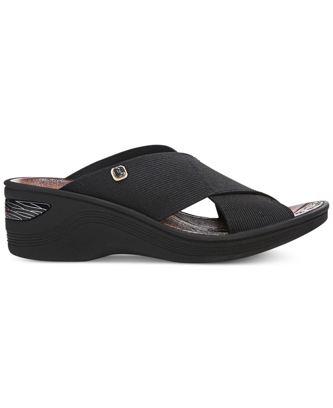 3b0eb3b2269 Lyst - Bzees Desire Sandals in Black