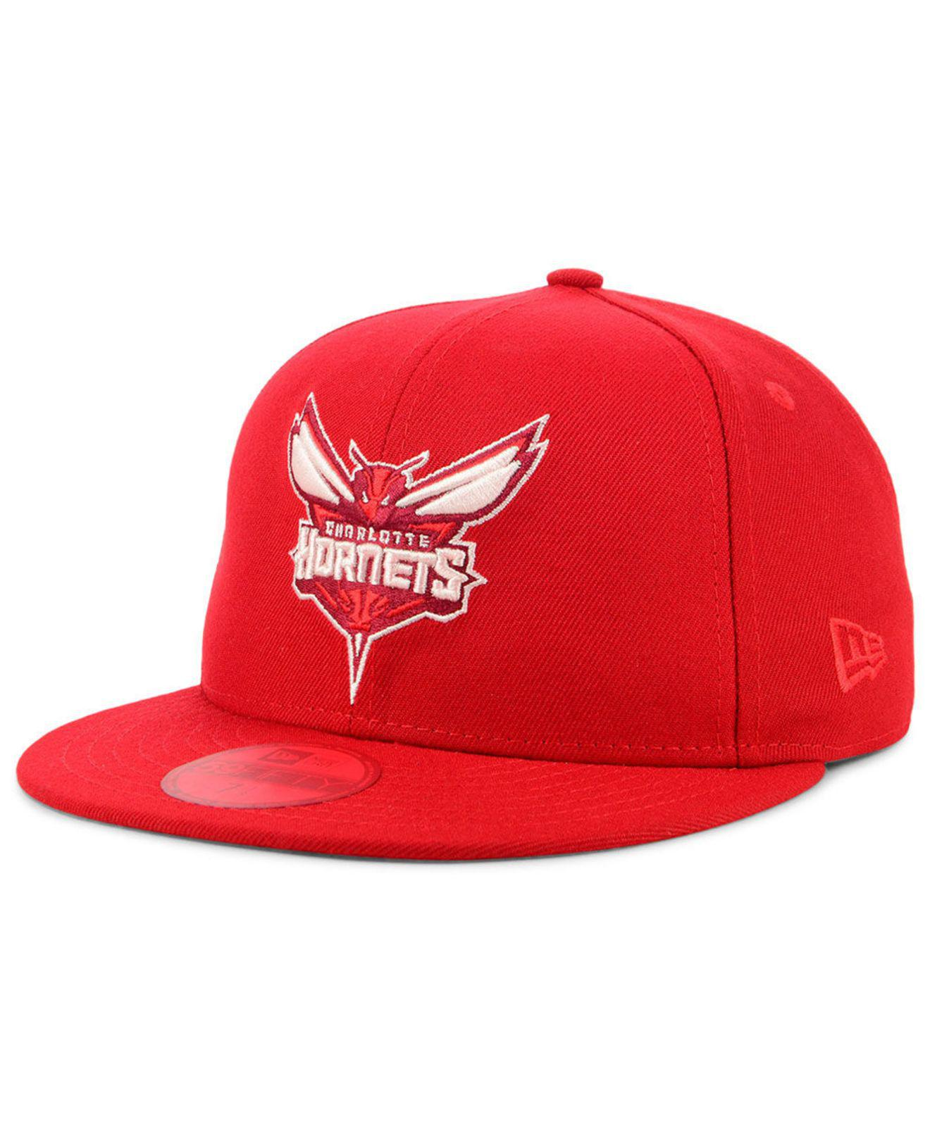 online store 06b66 35a05 Lyst - KTZ Charlotte Hornets Color Prism Pack 59fifty Cap in Red for Men