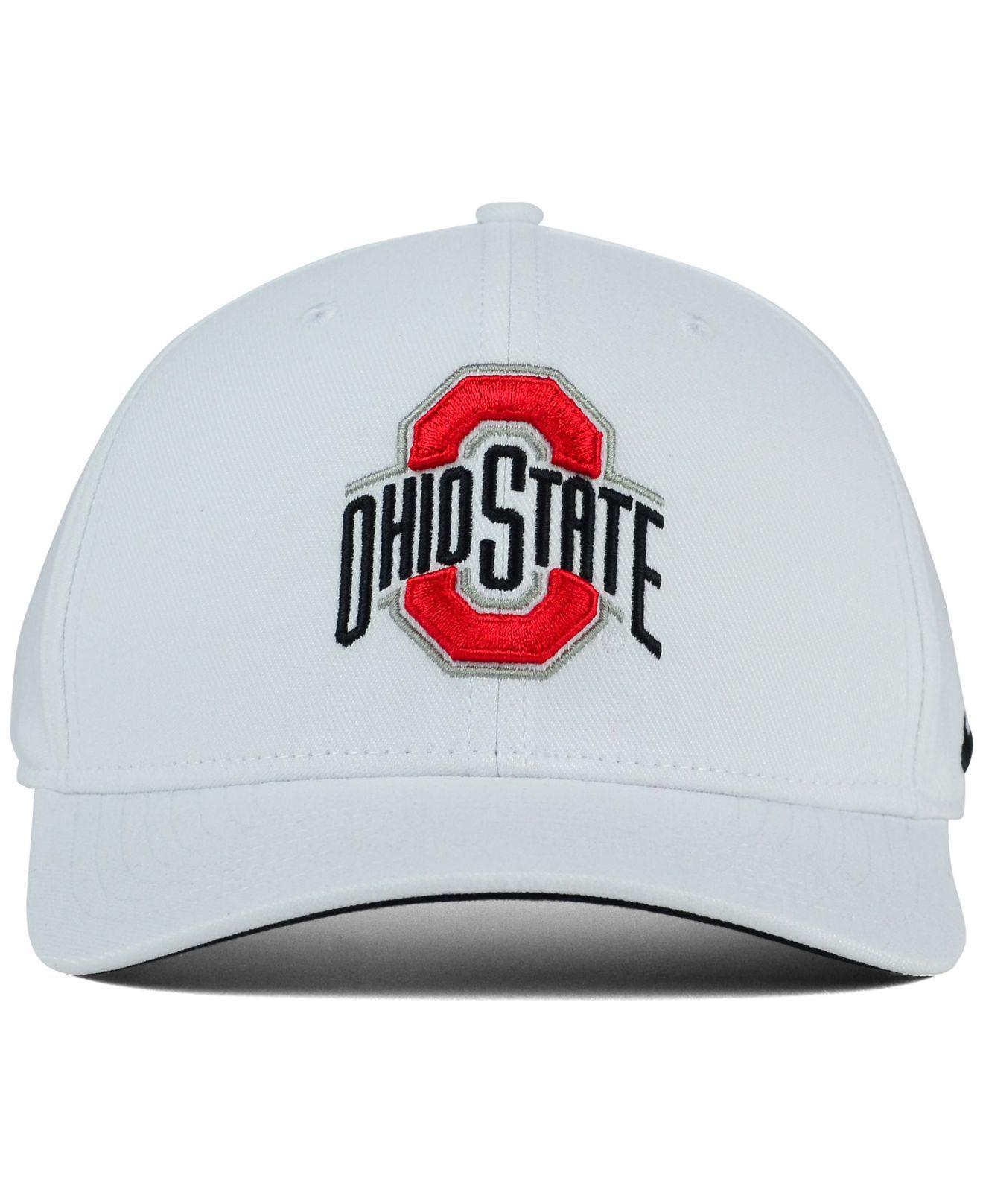 low priced f4b37 d5908 Lyst - Nike Ohio State Buckeyes Classic Swoosh Cap in White for Men
