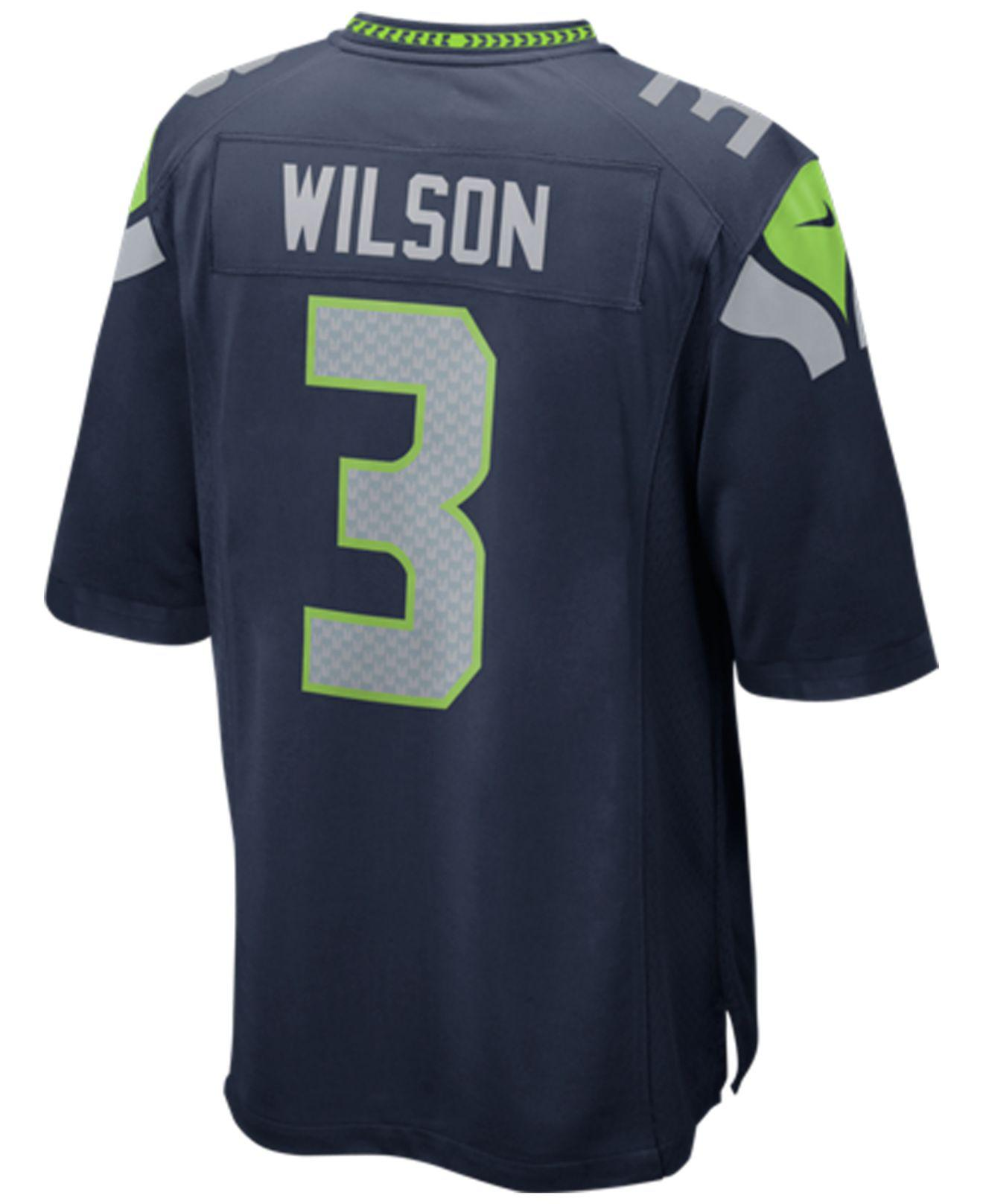 Lyst - Nike Men s Russell Wilson Seattle Seahawks Game Jersey in ... 89bec2b99