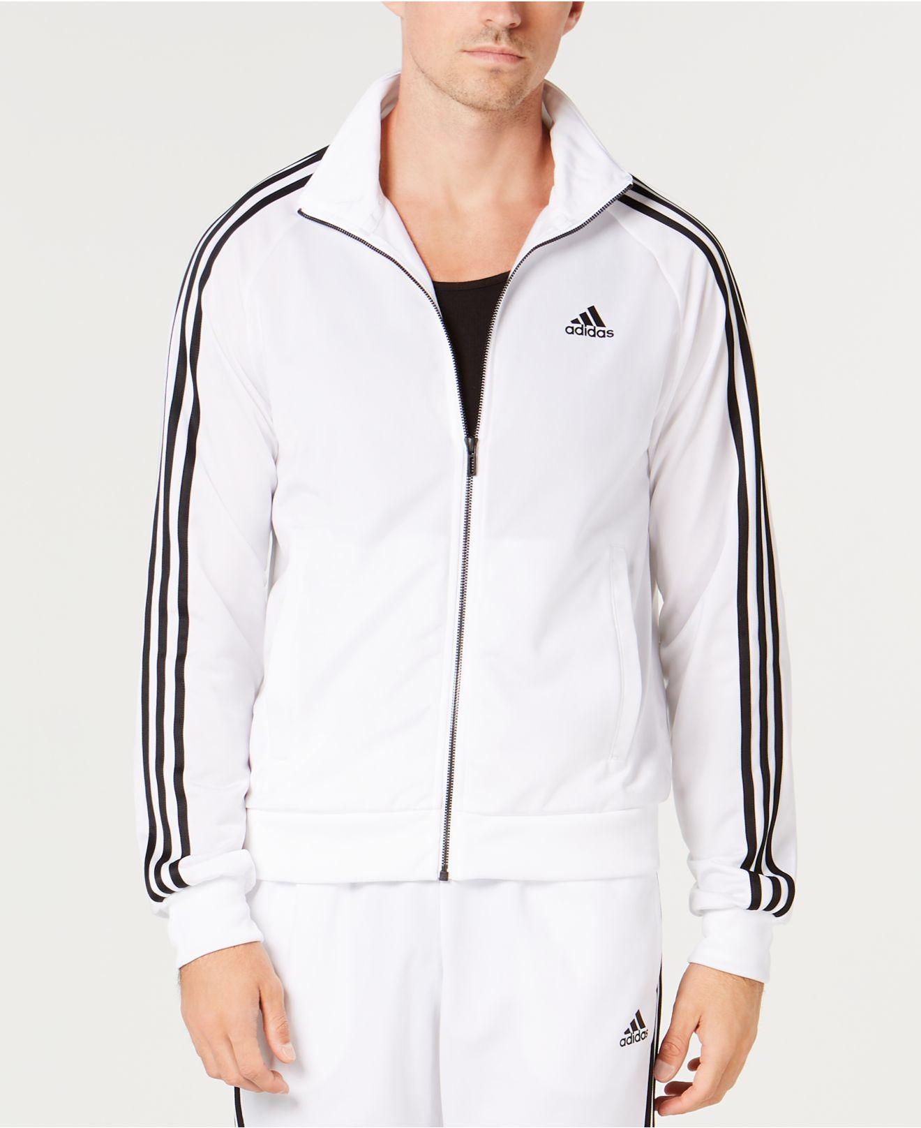 a19a0edad6e0 Lyst - adidas Essential Tricot Track Jacket in White for Men - Save 26%