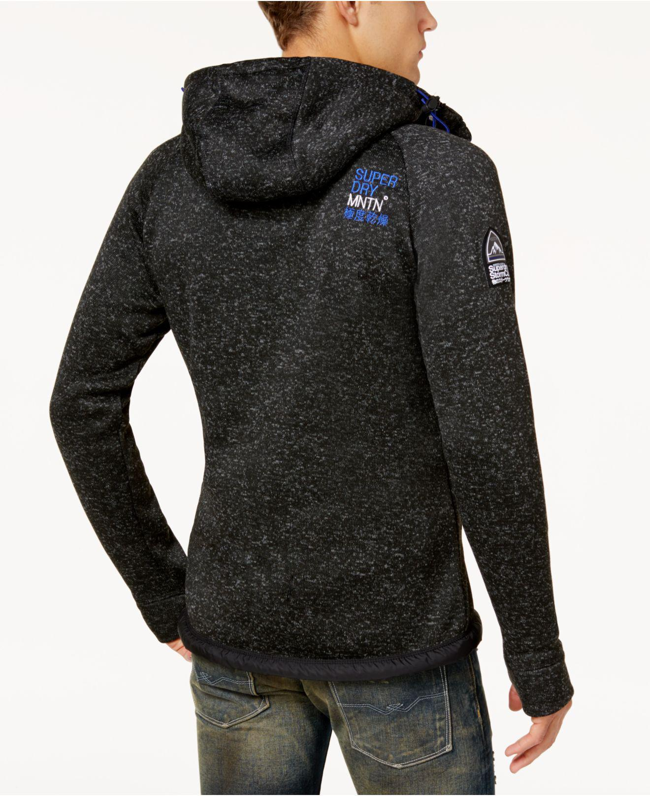 Superdry Men's Hooded Sweater-jacket in Black for Men | Lyst
