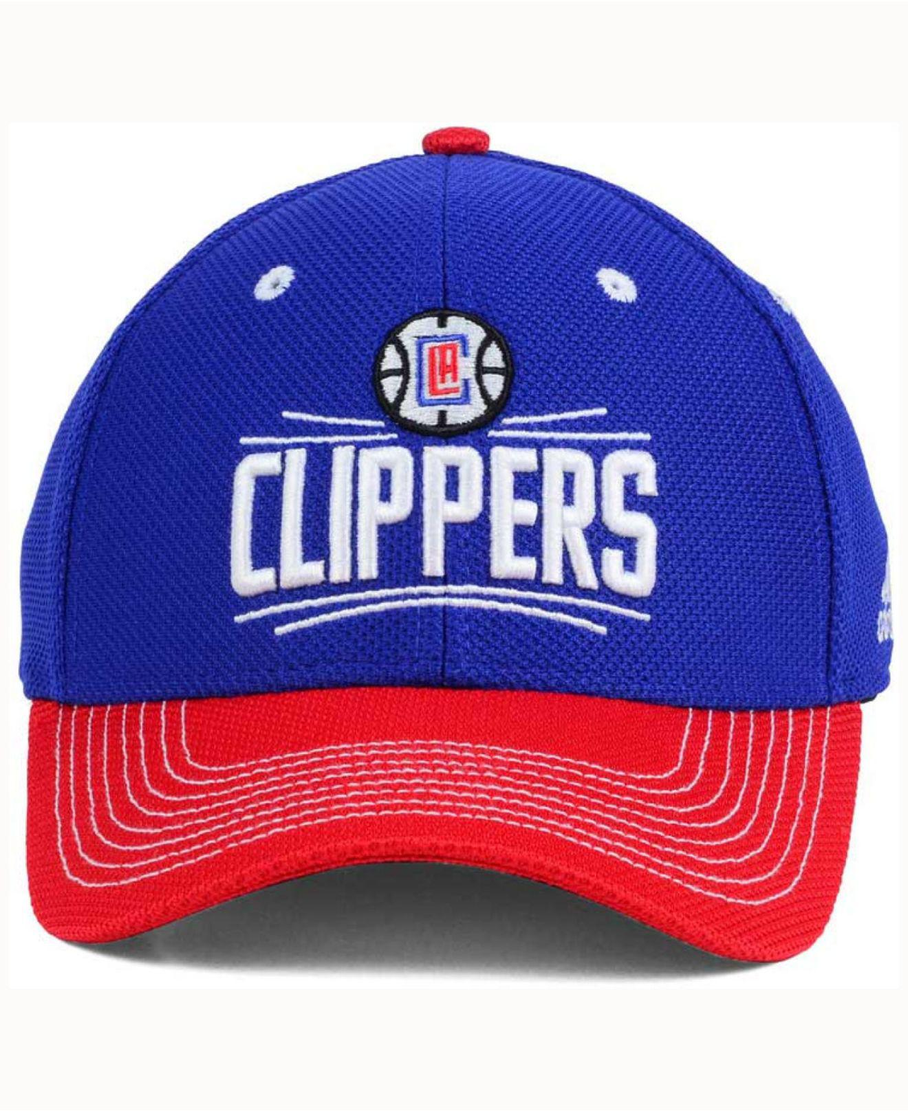 info for 389b8 eae93 ... netherlands lyst adidas los angeles clippers duel logo flex cap in blue  for men 4f042 146d3