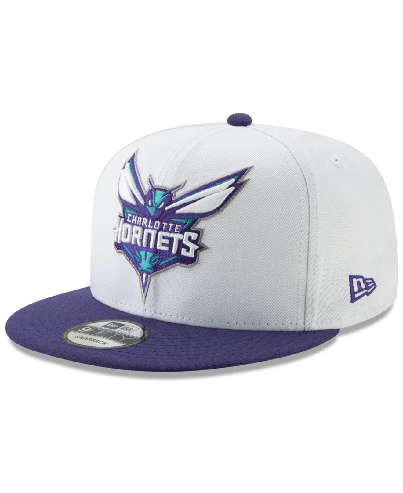 check out 9e79c 2e96c KTZ - Charlotte Hornets White Xlt 9fifty Cap for Men - Lyst. View fullscreen