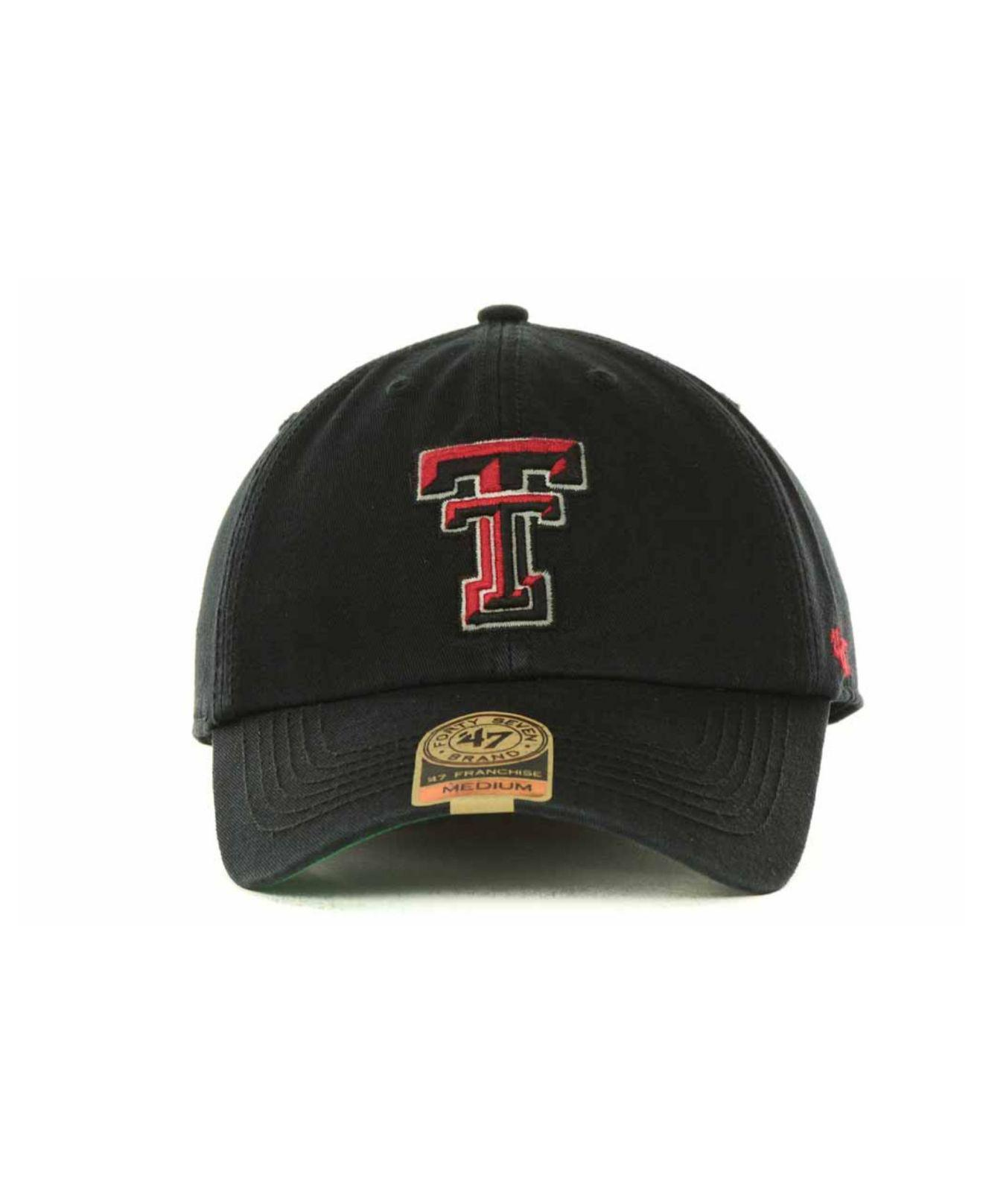 c37604e31db Lyst - 47 Brand Texas Tech Red Raiders Franchise Cap in Black for Men