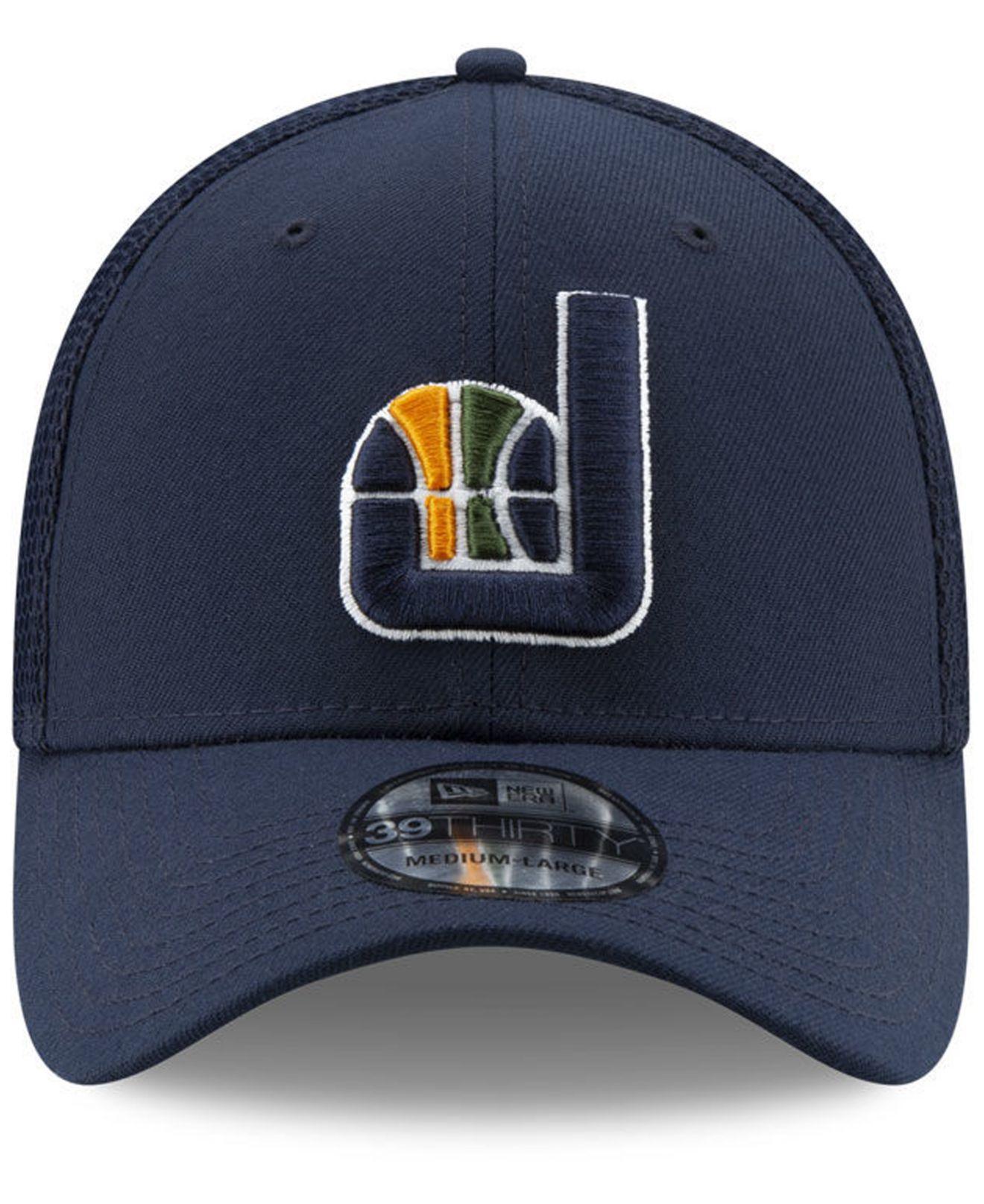 reputable site ab30f 98778 Lyst - KTZ Utah Jazz Back Half 39thirty Cap in Blue for Men