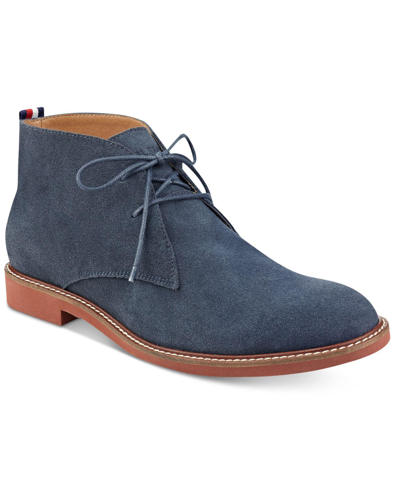 889801121a0d Lyst - Tommy Hilfiger Men s Gervis Chukka Boots in Blue for Men