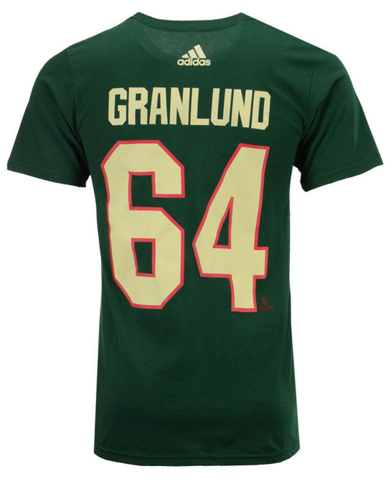 d67066ff3 adidas Mikael Granlund Minnesota Wild Silver Player T-shirt in Green ...