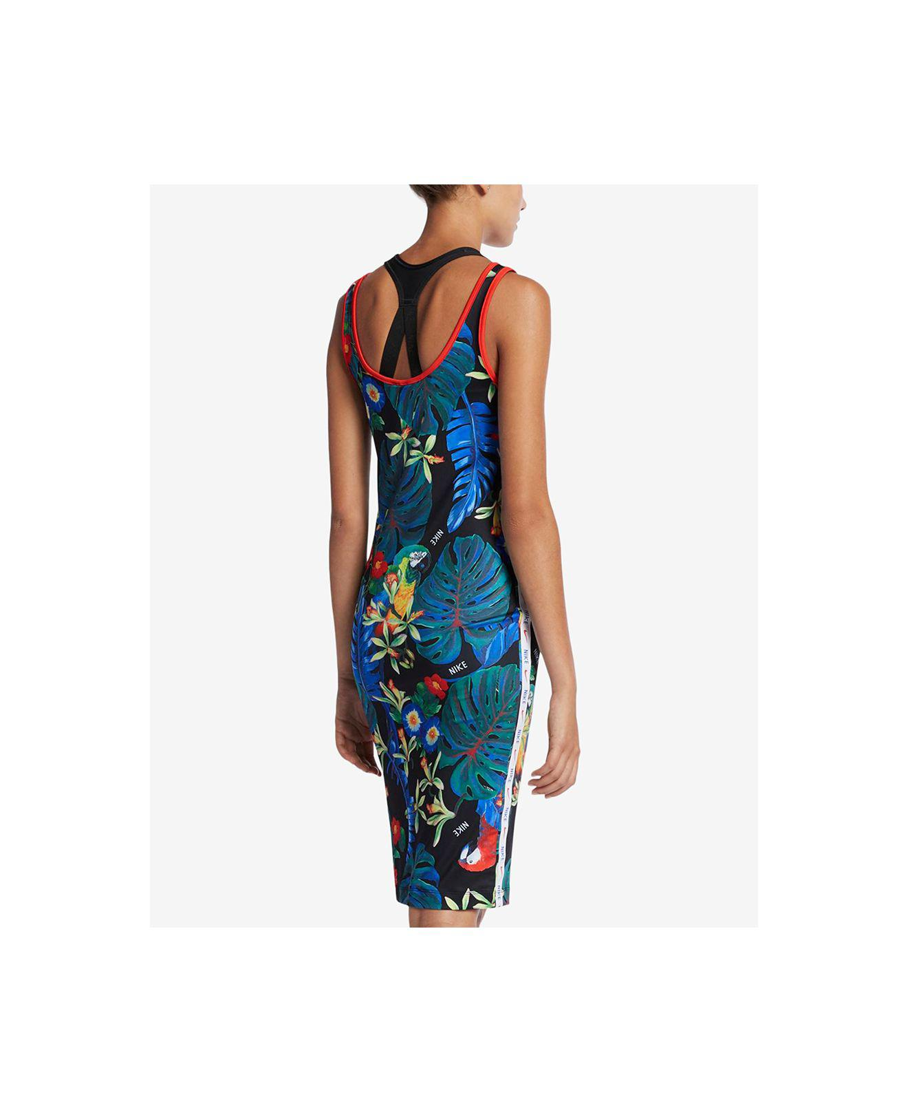 48d9eedd7e4 Nike Nsw Dress Hyper Femme (black light Crimson white) Women s Dress ...