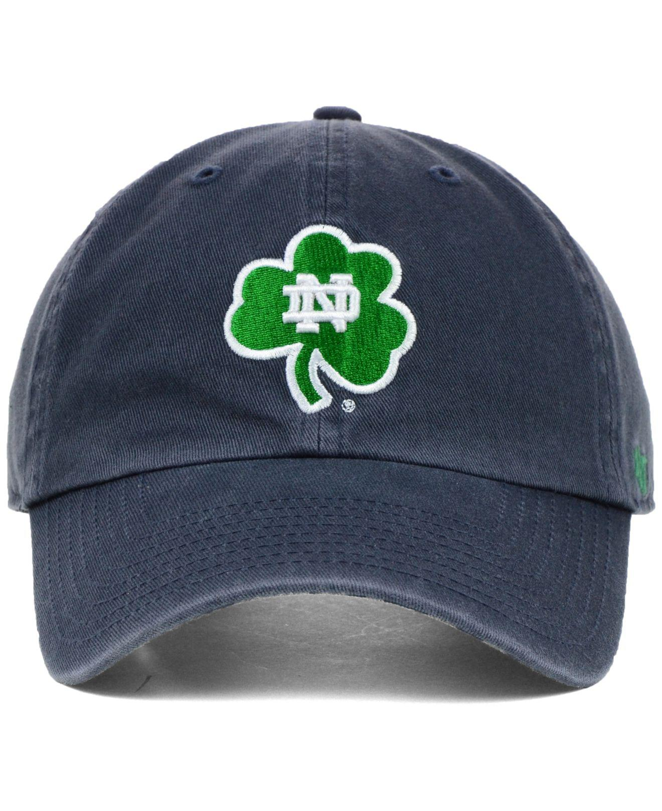 d583559e8832c ... lyst 47 brand notre dame fighting irish clean up cap in blue for men  netherlands 47 brand notre dame fighting irish caprock canyon logo flex hat  green ...