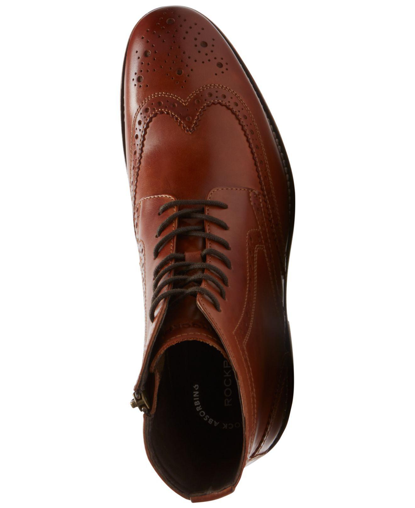cbd587046 Rockport Men's Wyat Wingtip Boots in Brown for Men - Lyst