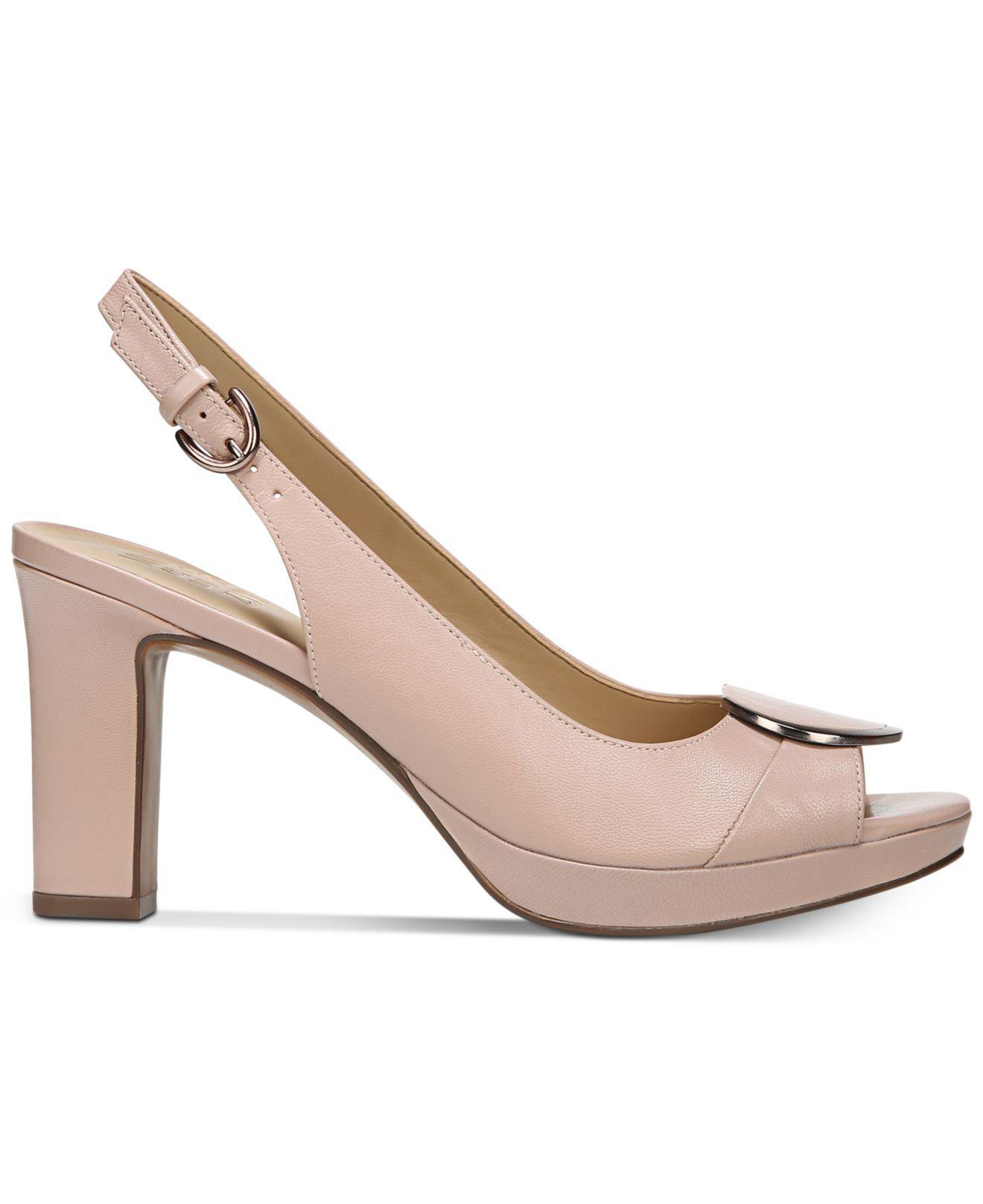 Naturalizer Ferris Peep-Toe Pumps Women's Shoes 8oQoqEw