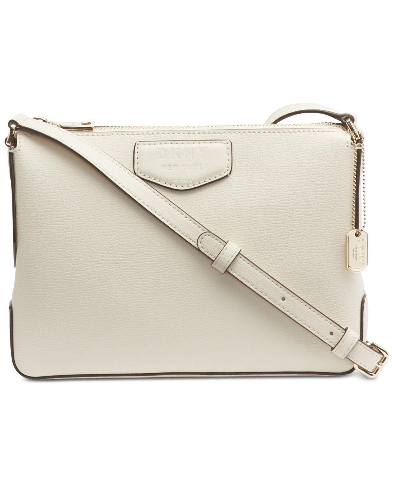 dcf4464748 Lyst - DKNY Sullivan Leather Top-zip Crossbody