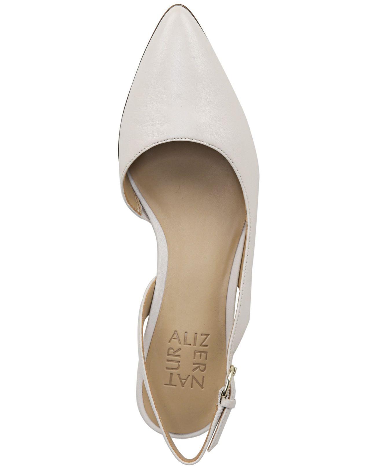 ba7e2086abf6 Lyst - Naturalizer Banks Slingback Sandals in White