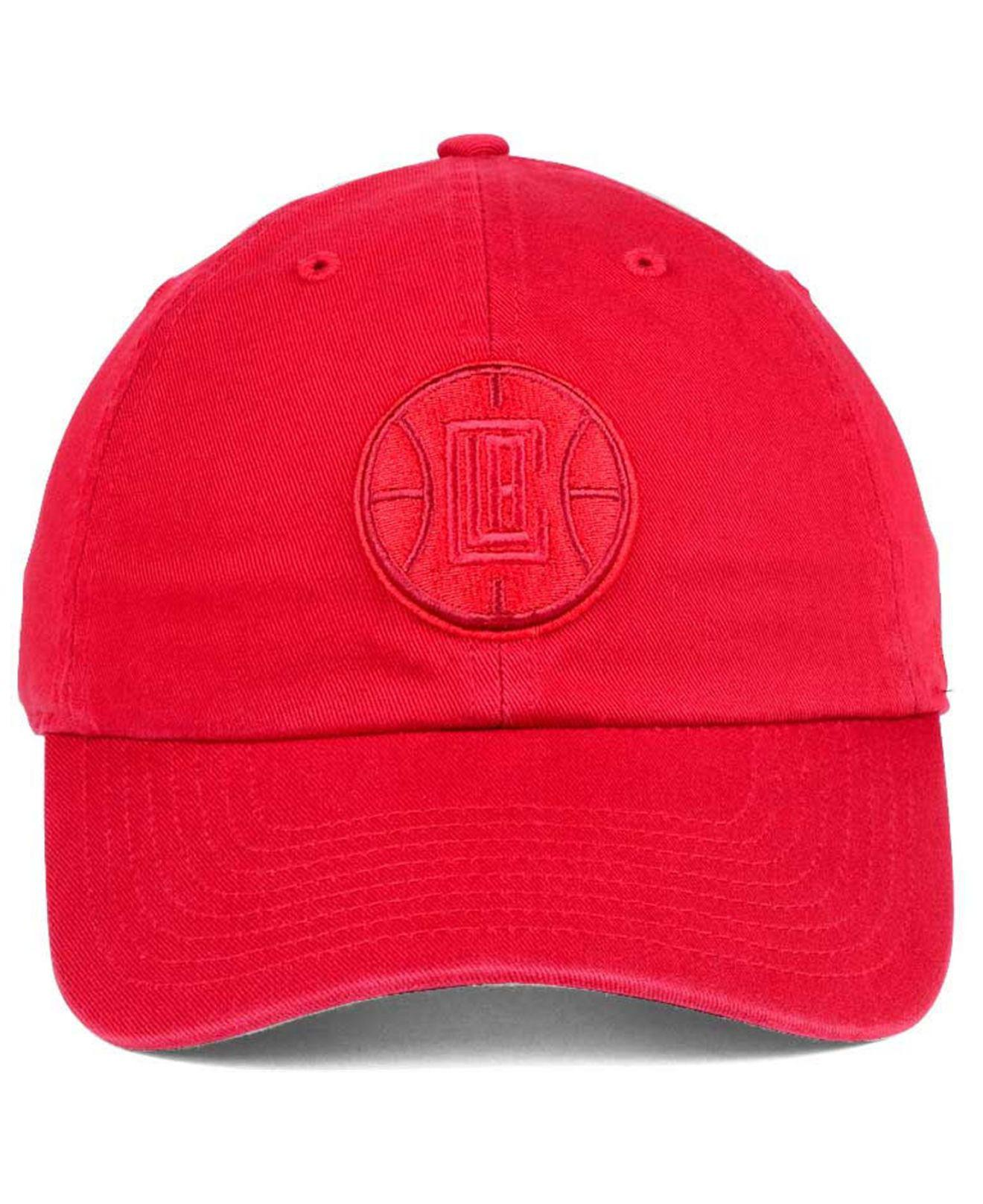 online store 38082 4bd8c ... cheapest lyst 47 brand triple rush clean up cap in red for men aebe9  af400