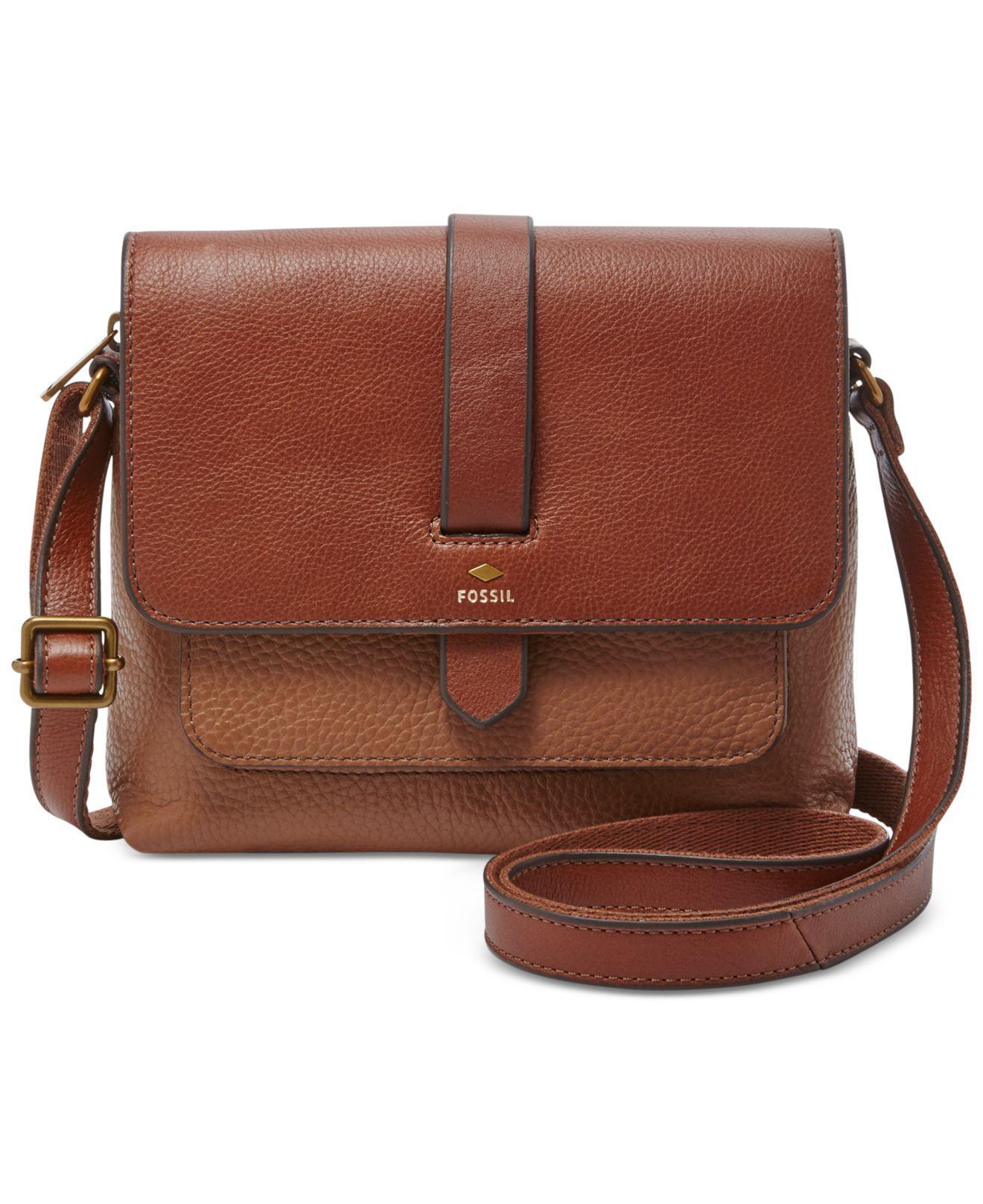 4b79f9506fe8 Lyst - Fossil Kinley Small Crossbody Handbag Brown in Brown - Save 7%