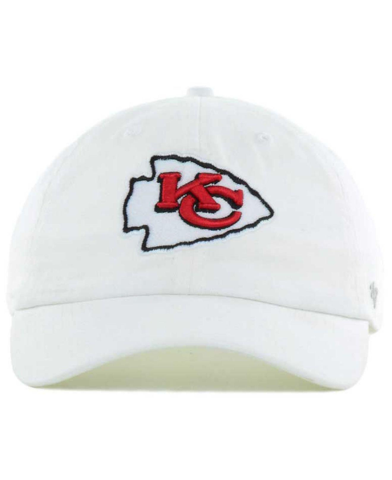 f7bc648fee964 ... sweden lyst 47 brand kansas city chiefs clean up strapback cap in white  6ab8a a4bd3