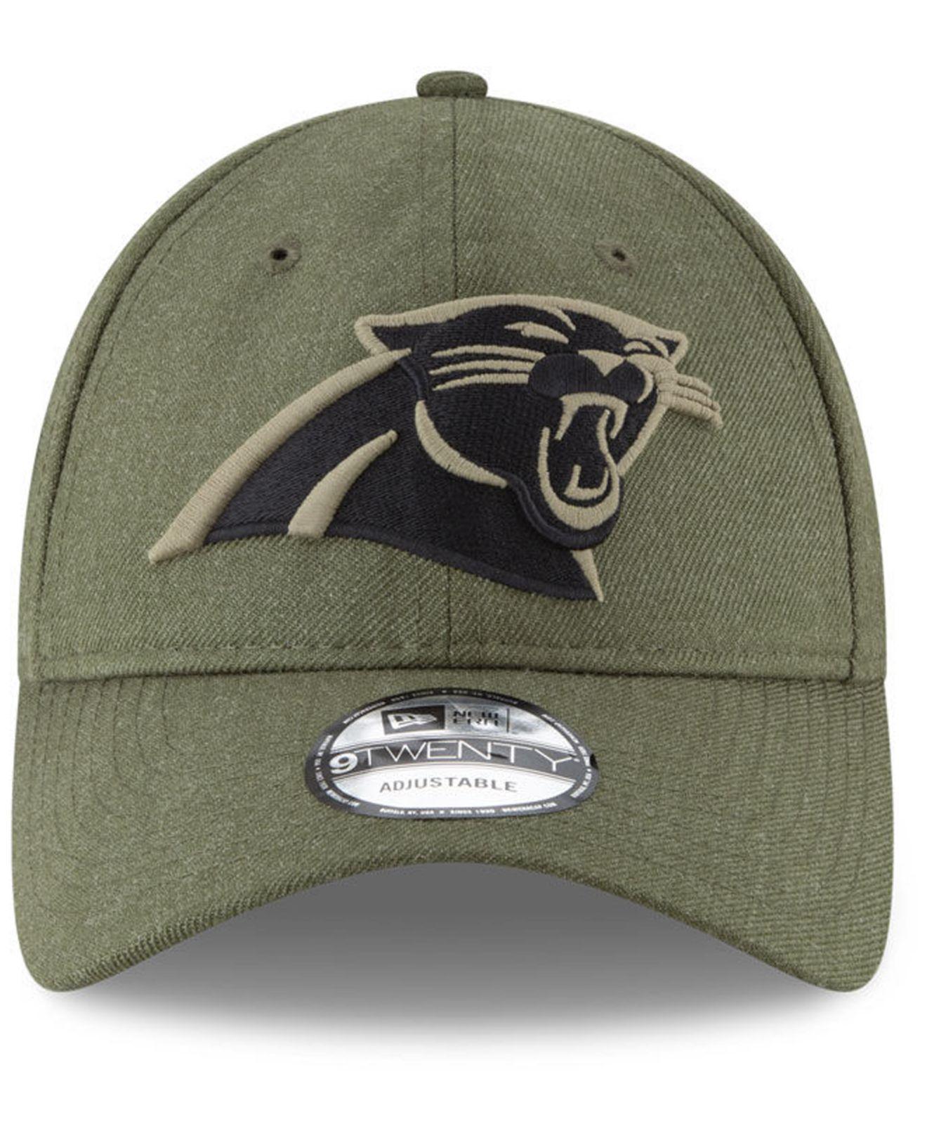 Lyst - Ktz Carolina Panthers Salute To Service 9twenty Cap in Green for Men 2b79be9a7
