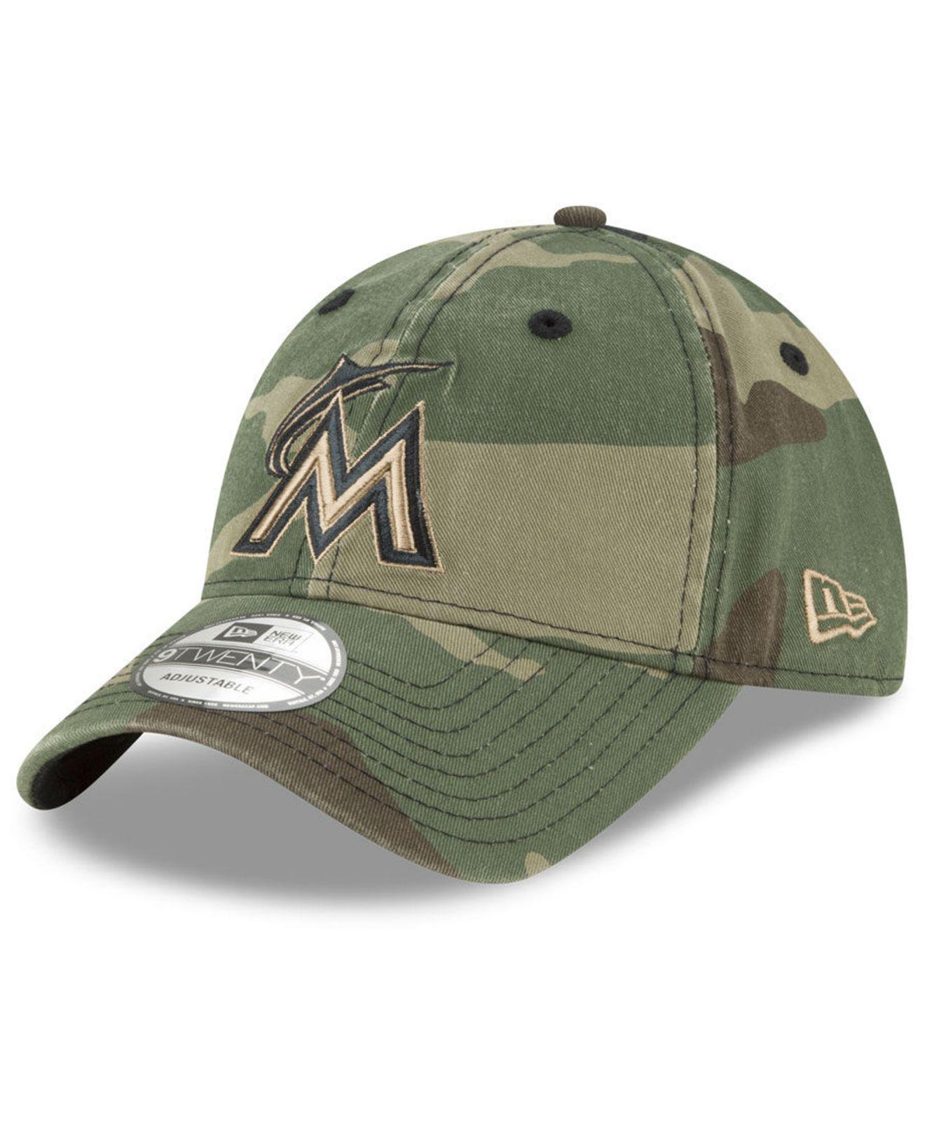 new concept c1691 a3c17 Lyst - KTZ Miami Marlins Camo Core Classic 9twenty Cap in Green for Men