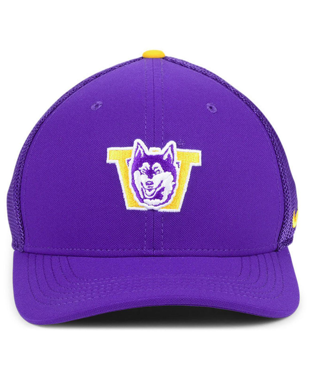 5c9b2cd0b0eb5d closeout lyst nike washington huskies col aro swooshflex cap in purple for  men a0899 1abad