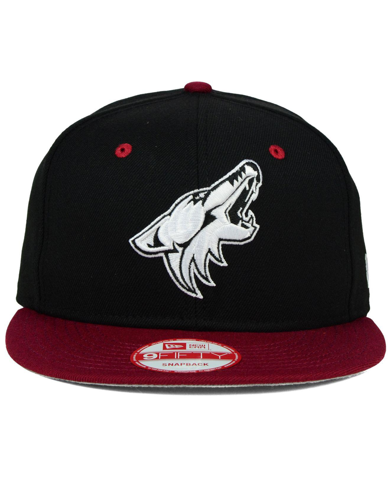 pretty nice 9d915 a4ac5 ... canada lyst ktz arizona coyotes black white team color 9fifty snapback  cap for men 0d490 6bc9a