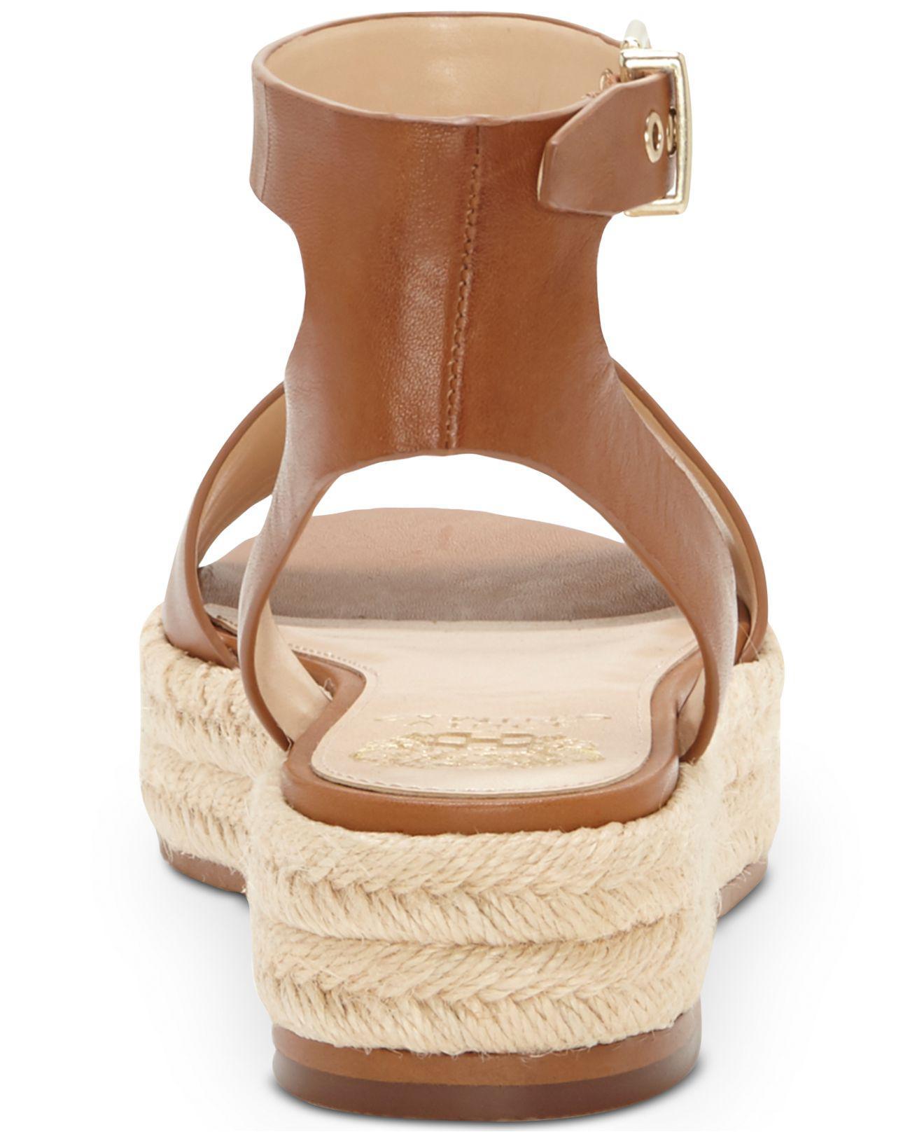 8d8b5da1f9a9 Lyst - Vince Camuto Kathalia Flatform Espadrille Sandals in Brown