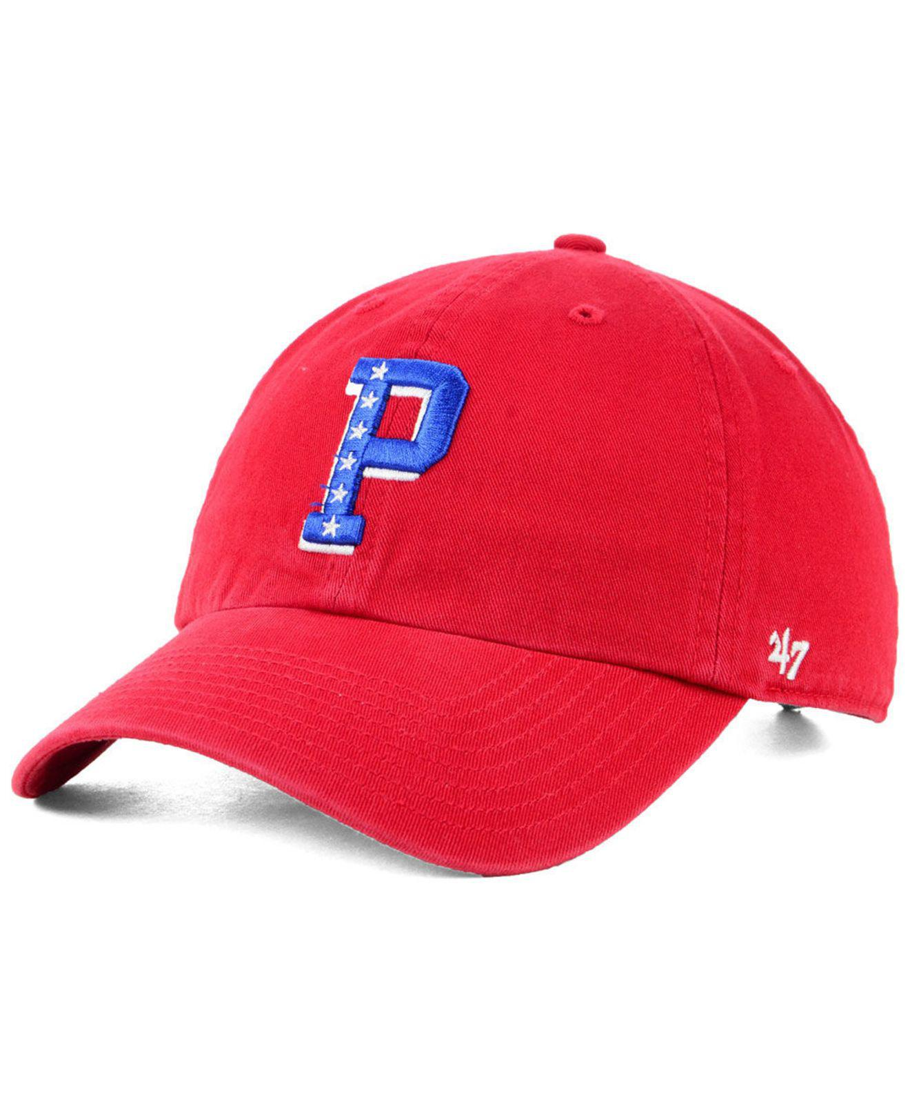 reputable site 617b3 6fd42 ... sweden lyst 47 brand philadelphia 76ers mash up clean up cap in red for  men 0f62b