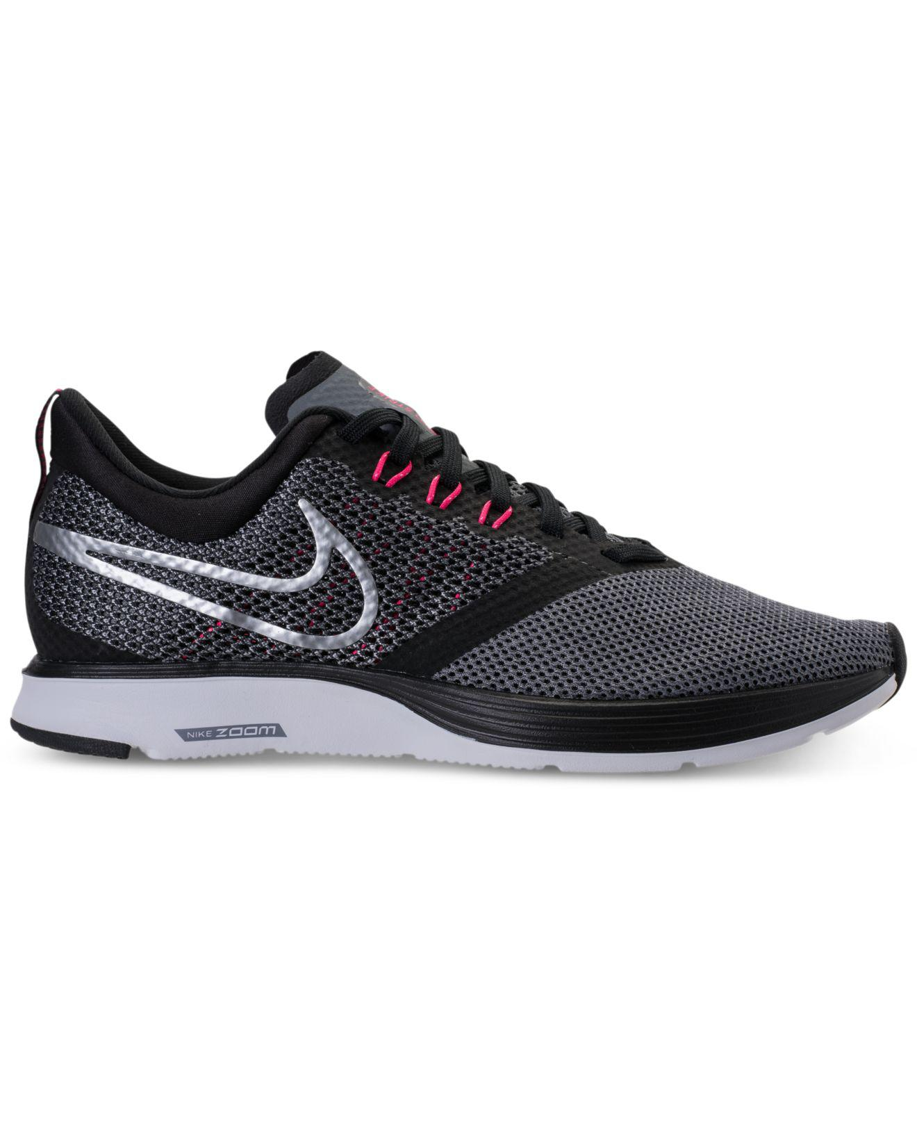 2bd484878b7b Lyst - Nike Zoom Strike Running Sneakers From Finish Line in Black