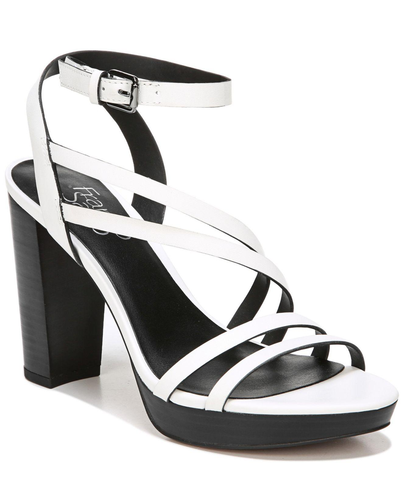 b952e337e05779 Lyst - Franco Sarto Maryann Platform Dress Sandals in White