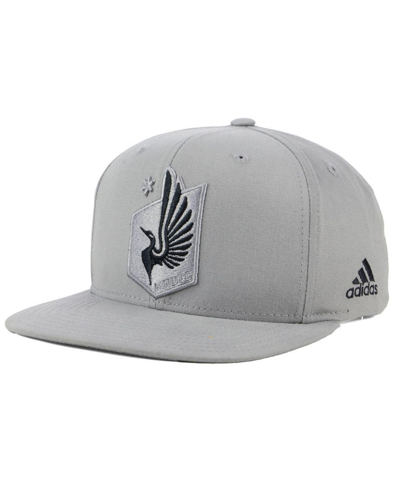 911345210ee ... top quality lyst adidas minnesota united fc gray snapback cap in gray  for men 14bb5 172d3