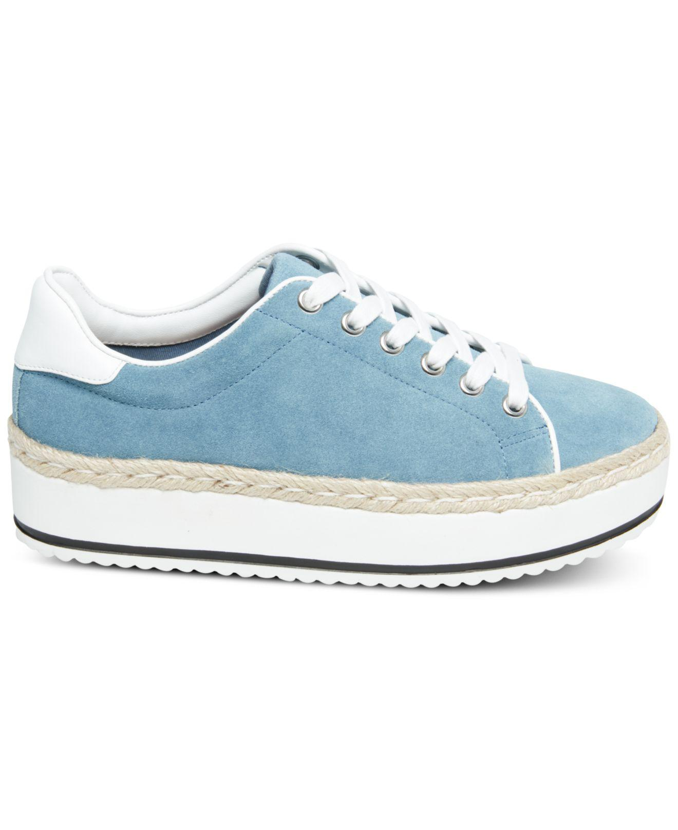 d62049fe64c Steve Madden Rule Lace-up Espadrille Sneakers in Blue - Lyst