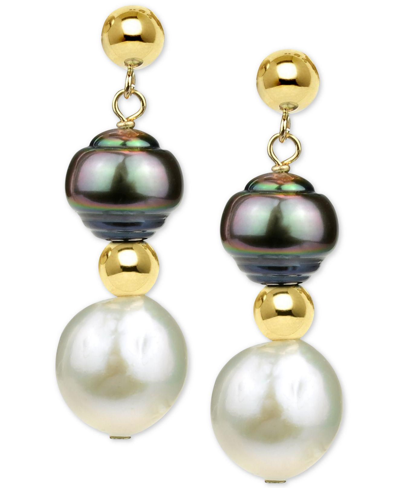 ee0b8e4cb Lyst - Macy's Cultured Baroque Freshwater Pearl (11-12mm) And ...