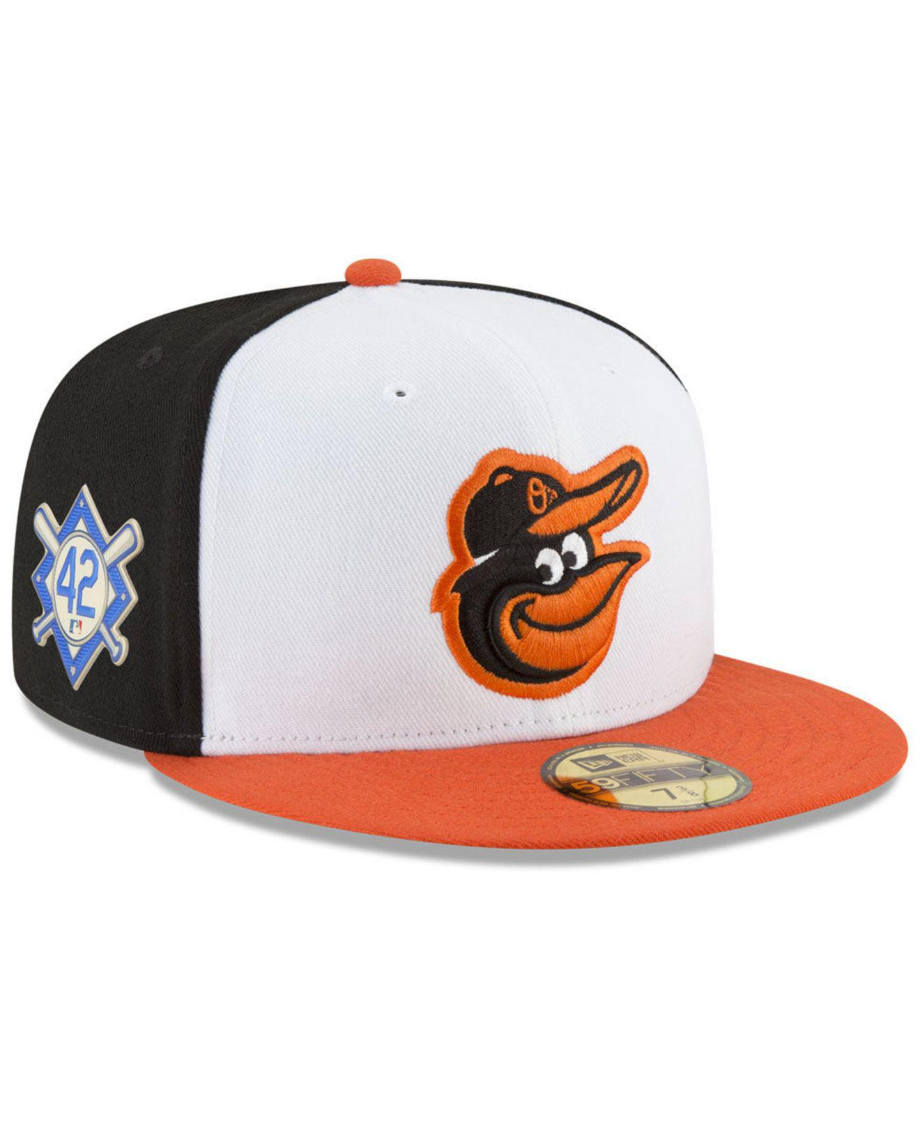 check out f4d1a 8ed29 KTZ. Men s Baltimore Orioles Jackie Robinson Day 59fifty Fitted Cap