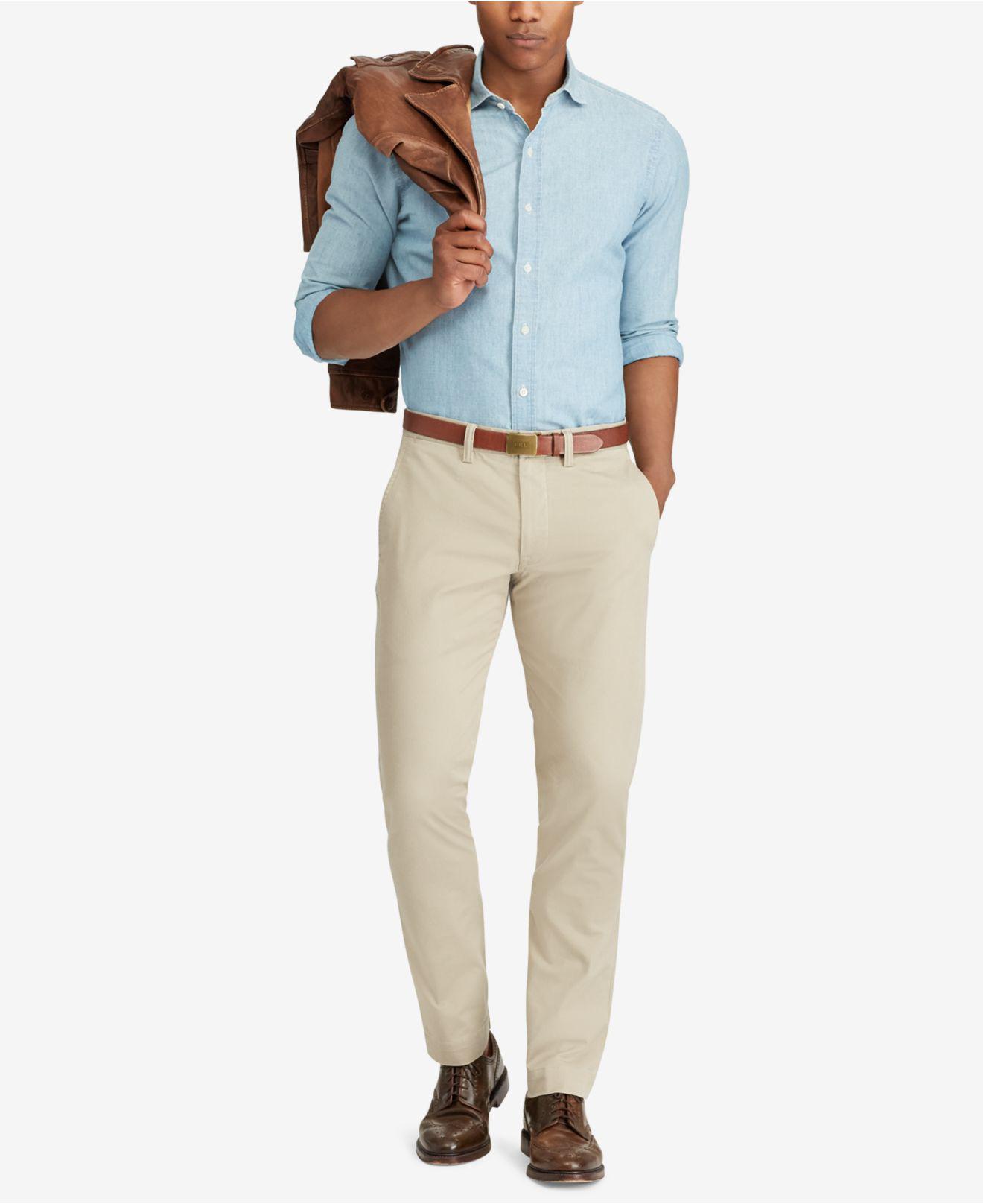 9b686cd99337f Polo Ralph Lauren - Natural Men s Hampton Straight-fit 5-pocket Pants for  Men. View fullscreen